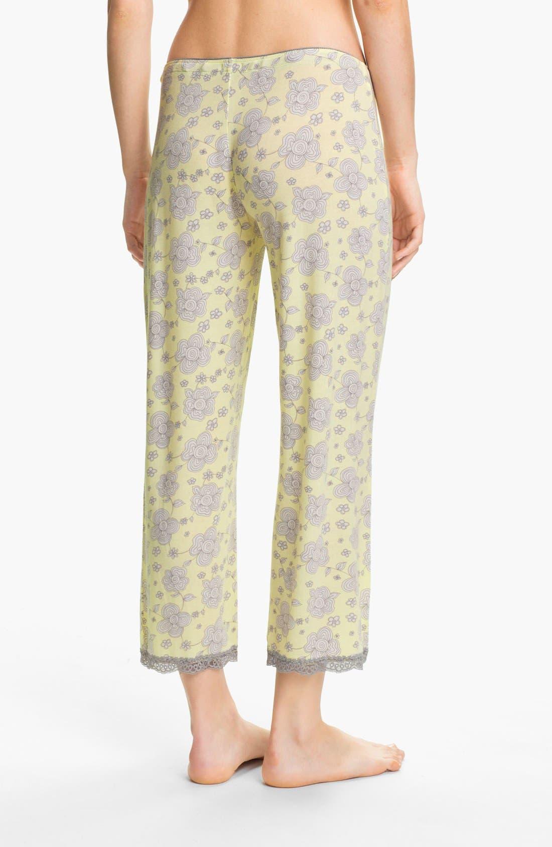 Alternate Image 2  - PJ Salvage Floral Knit Crop Lounge Pants