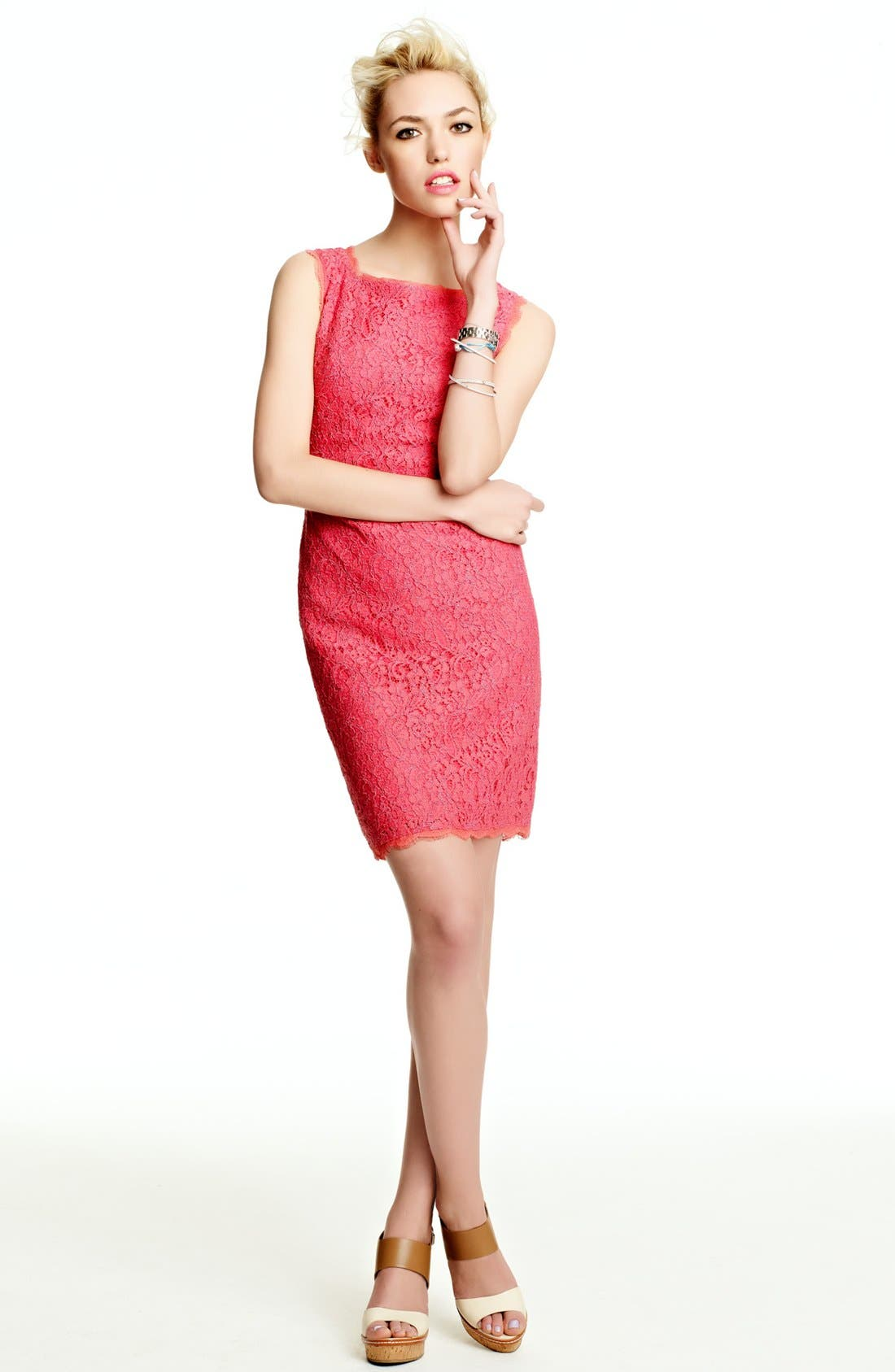 Alternate Image 2  - Adrianna Papell Sheath Dress & Accessories
