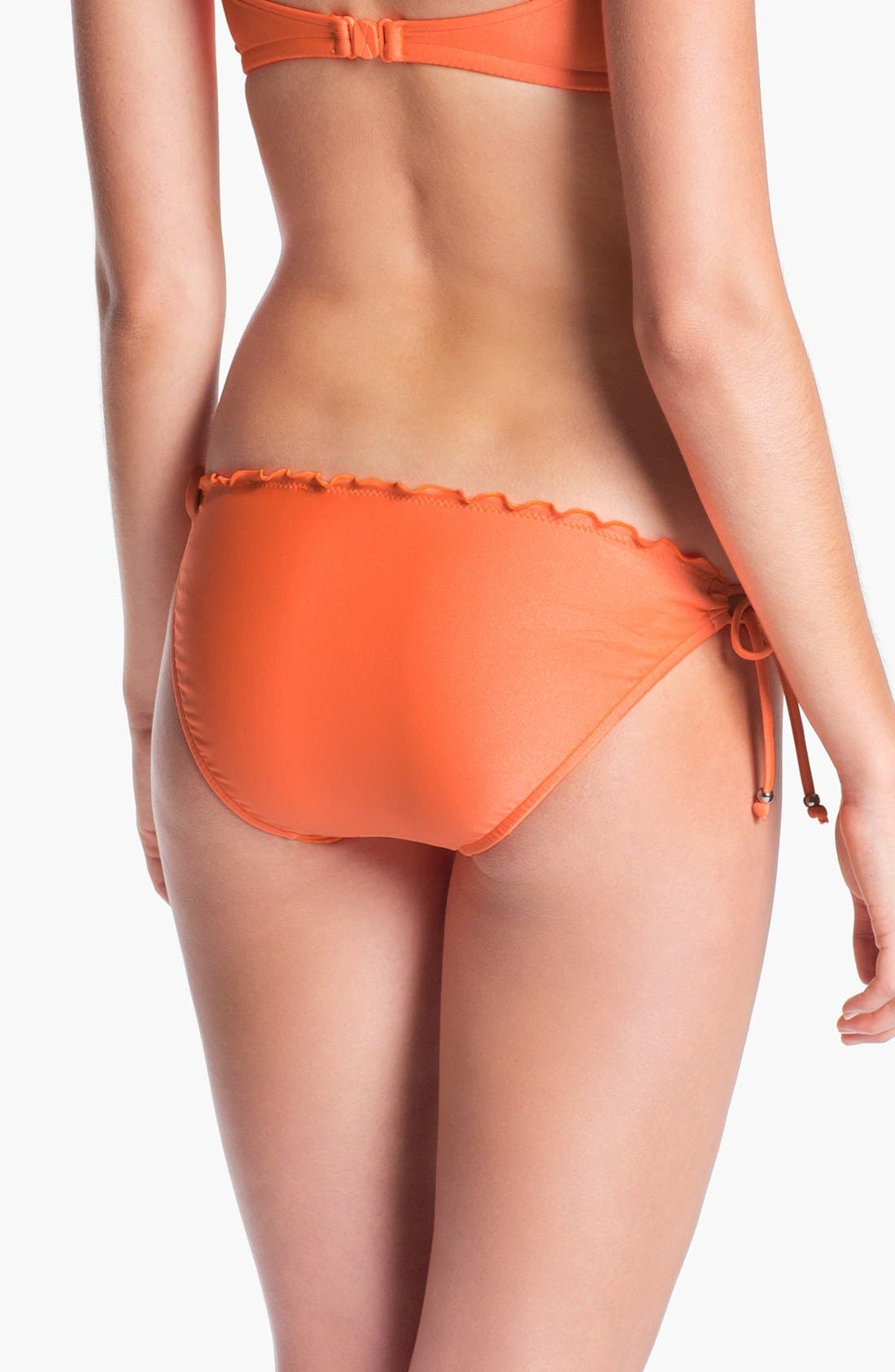 Alternate Image 2  - Seafolly Ruffle Side Tie Bikini Bottoms