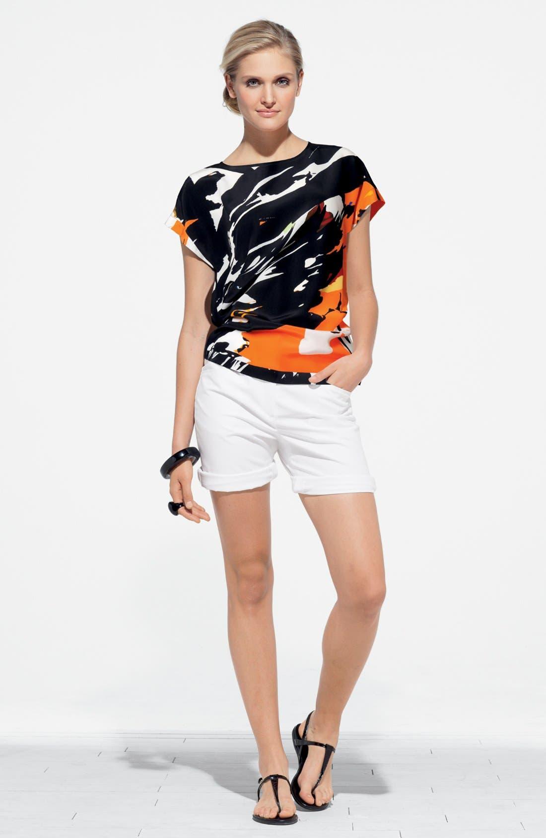 Alternate Image 4  - Lafayette 148 New York 'Prima Floral Donna' Silk Top