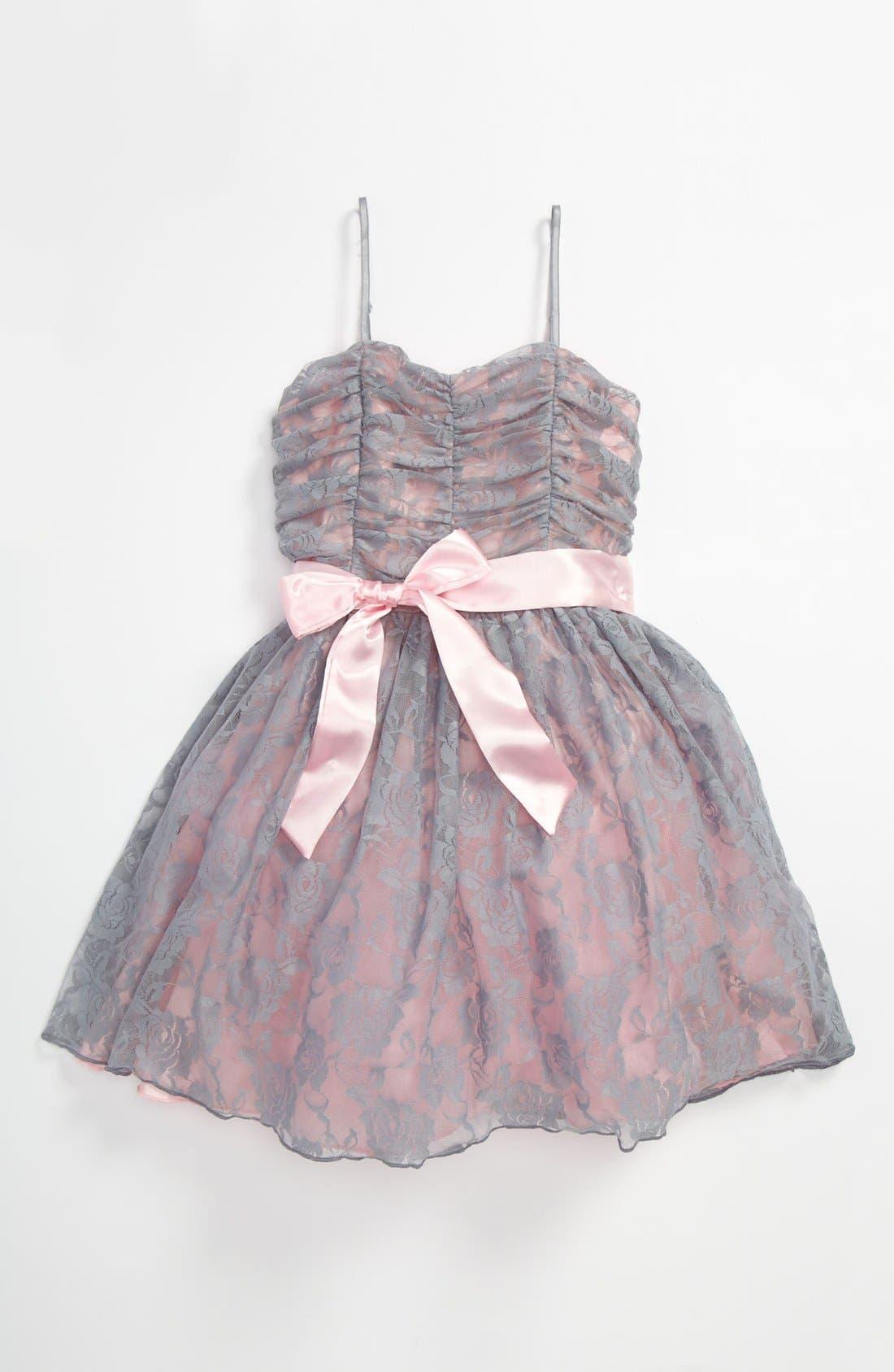Alternate Image 1 Selected - Un Deux Trois Lace Dress (Big Girls)