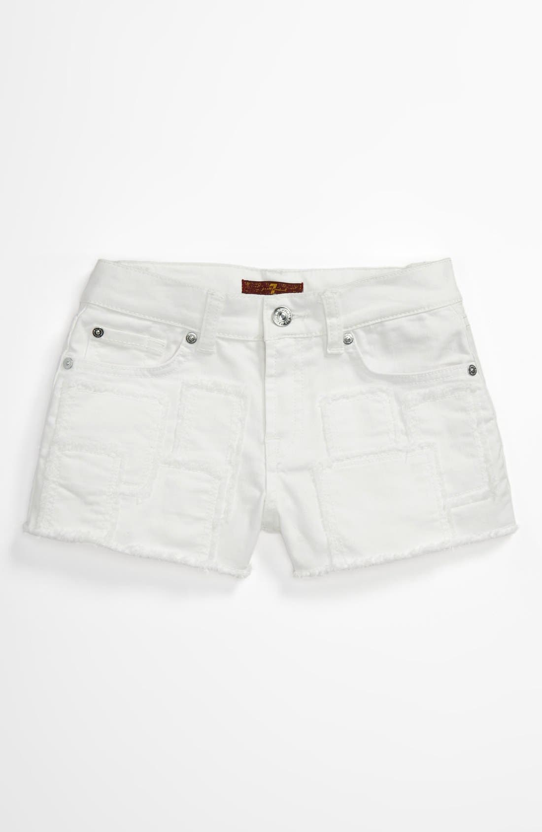 Alternate Image 2  - 7 For All Mankind® Patch Shorts (Big Girls)