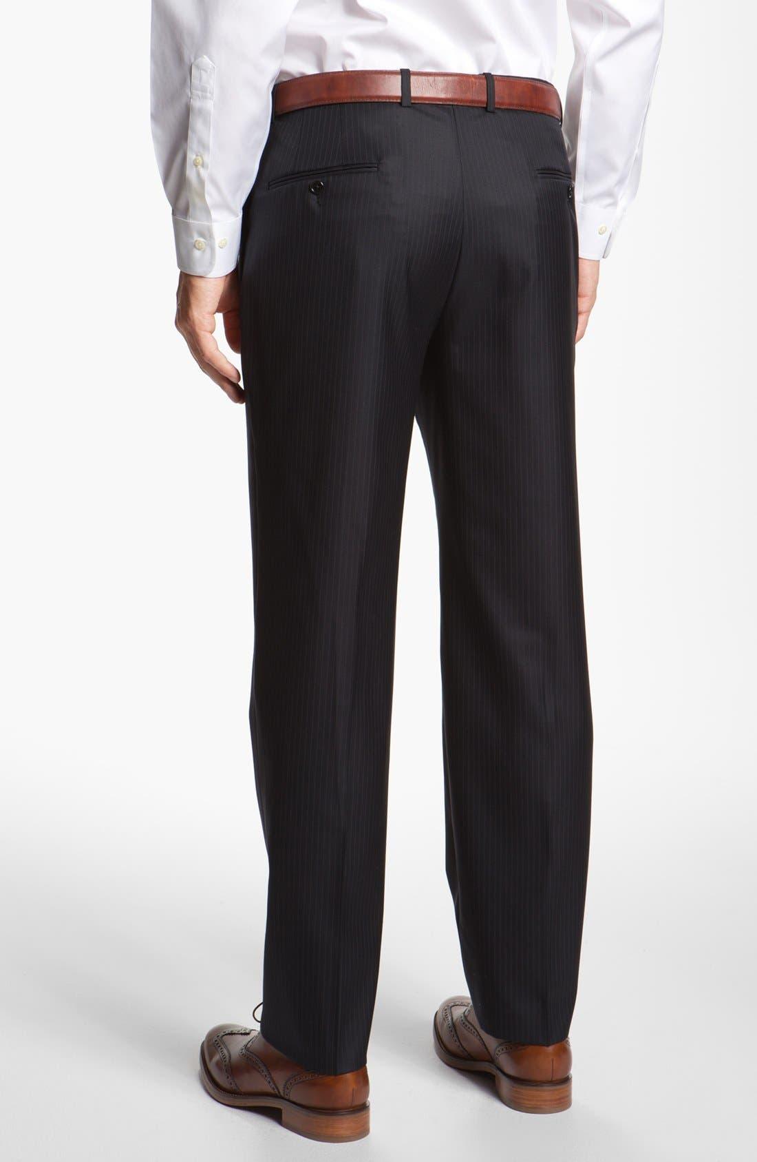 Alternate Image 5  - Hickey Freeman Stripe Wool Blend Suit