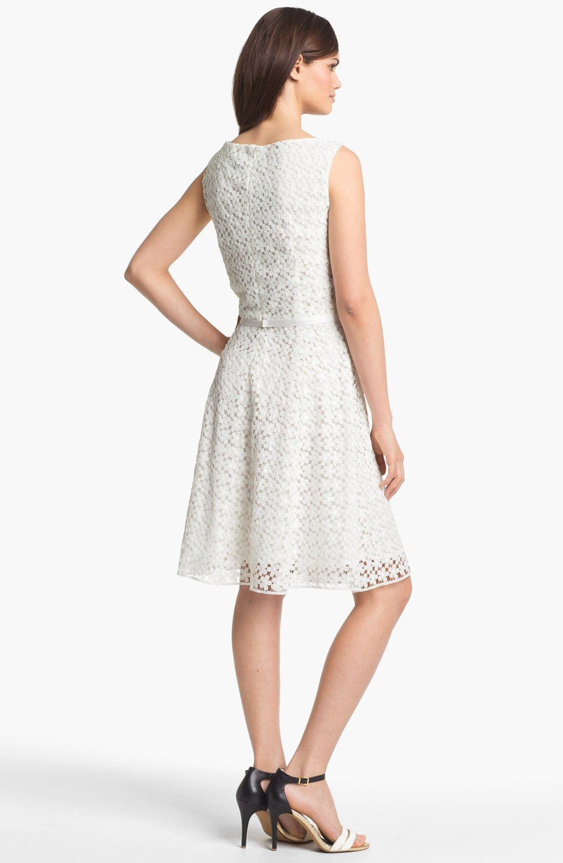Alternate Image 2  - Taylor Dresses Lace Fit & Flare Dress