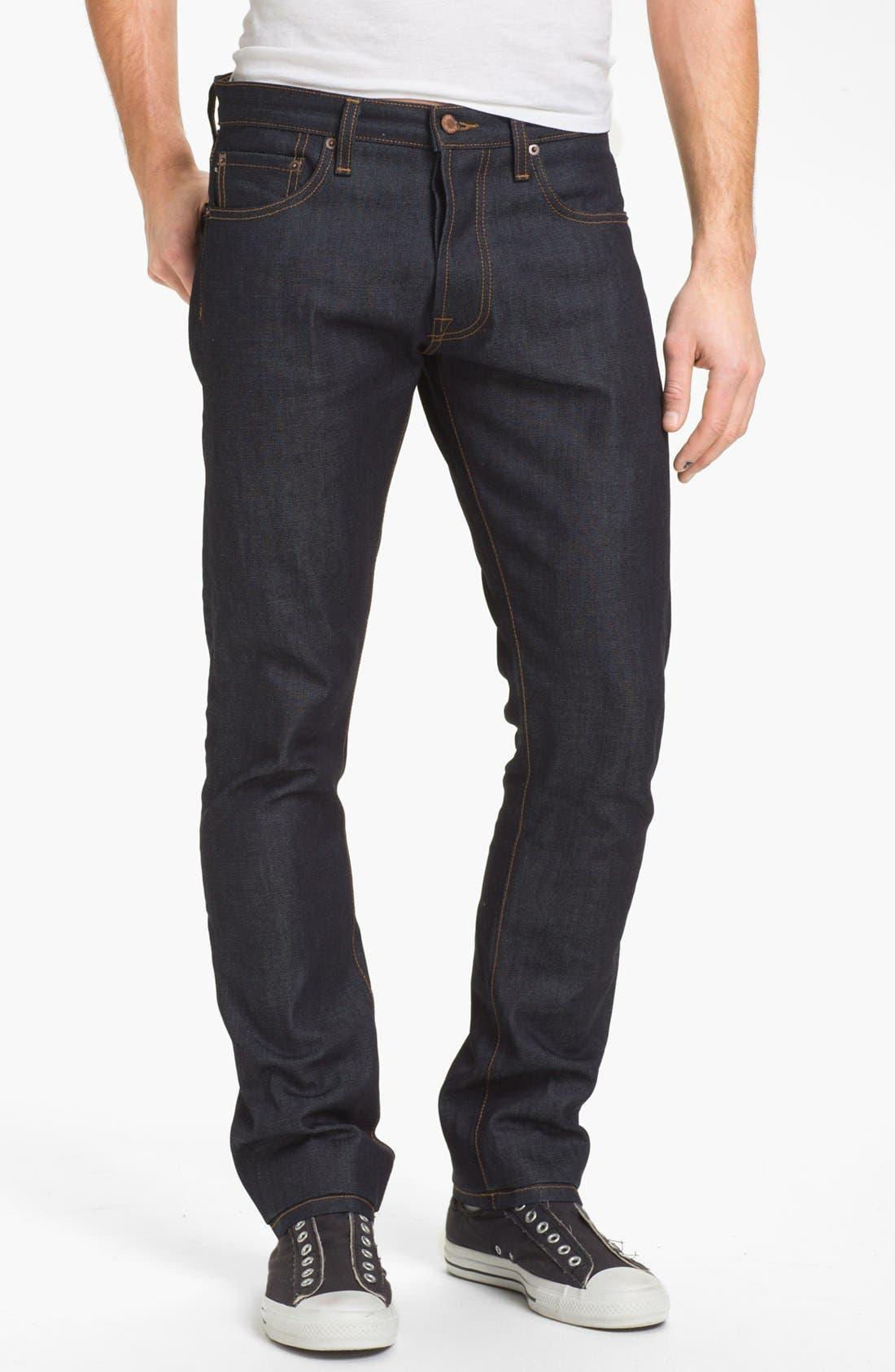 Main Image - Baldwin 'Henley' Slim Fit Selvedge Jeans (Dry)