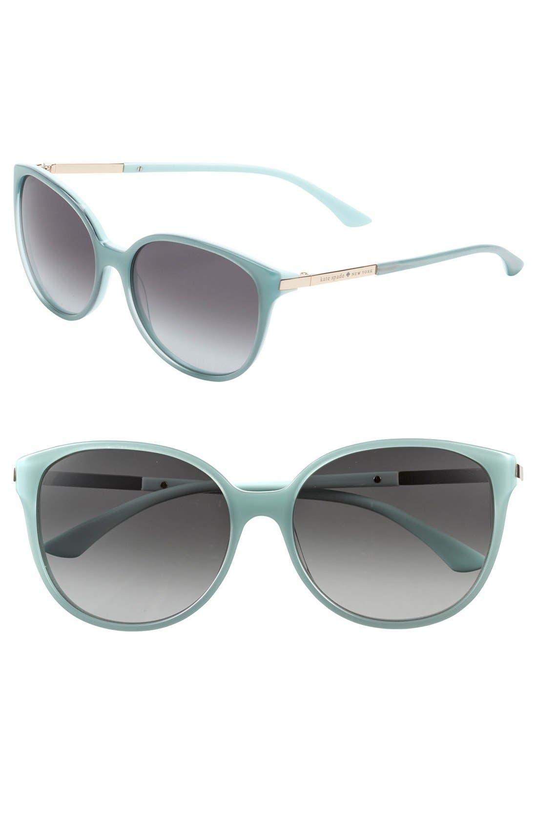 Alternate Image 1 Selected - kate spade new york 'shawna' 56mm sunglasses