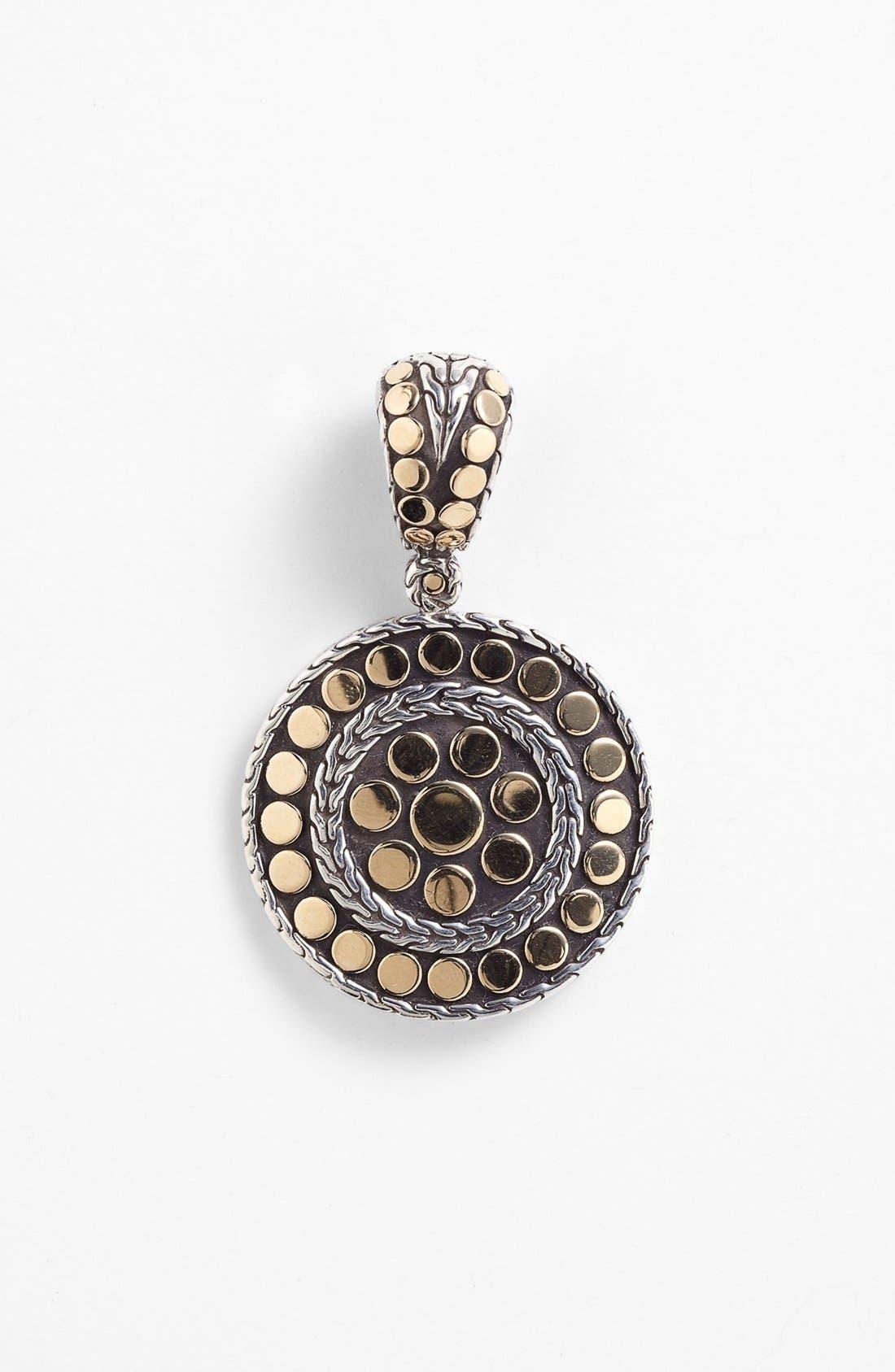 'Dot' Round Pendant,                         Main,                         color, Silver/ Gold