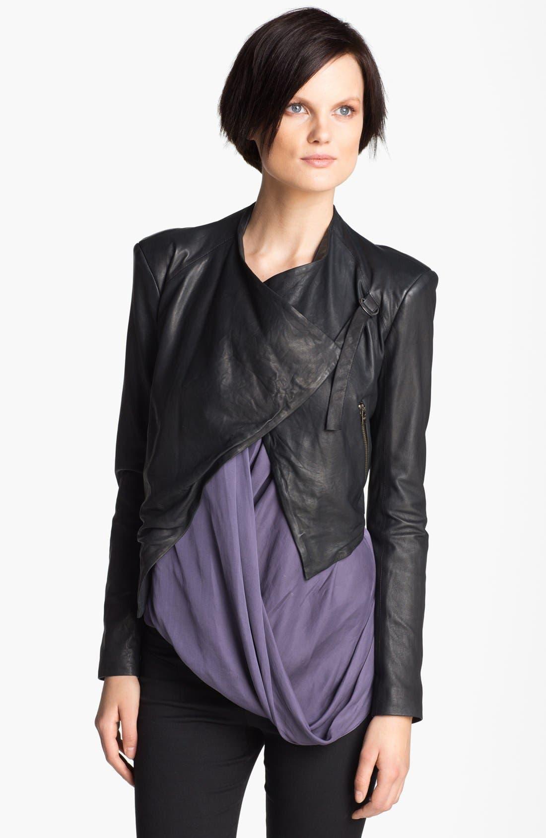 Main Image - HELMUT Helmut Lang Washed Leather Jacket