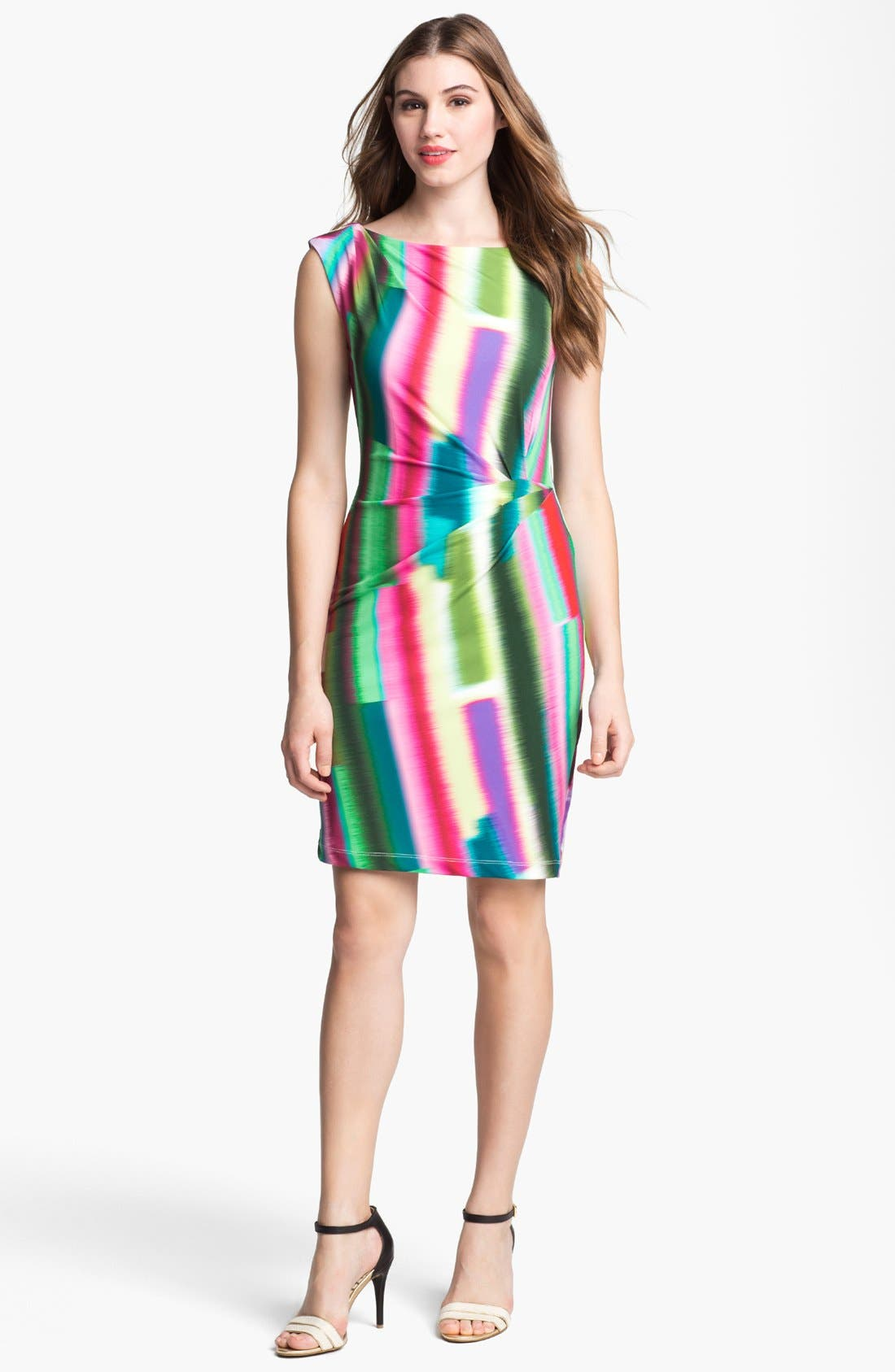 Main Image - Suzi Chin for Maggy Boutique Print Ruched Jersey Dress