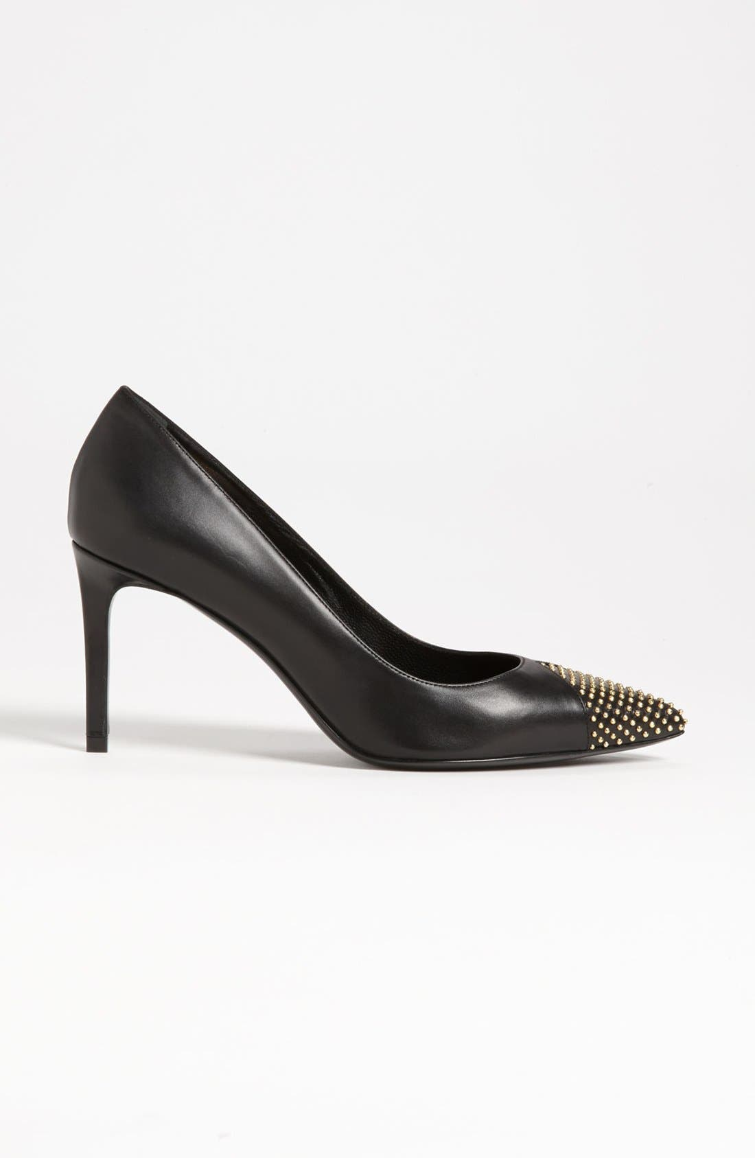 Alternate Image 4  - Saint Laurent Studded Toe Pump