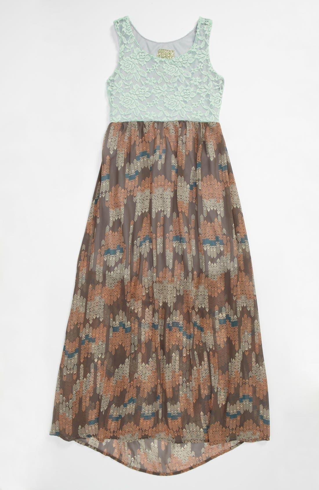 Main Image - Kiddo Maxi Dress (Big Girls)