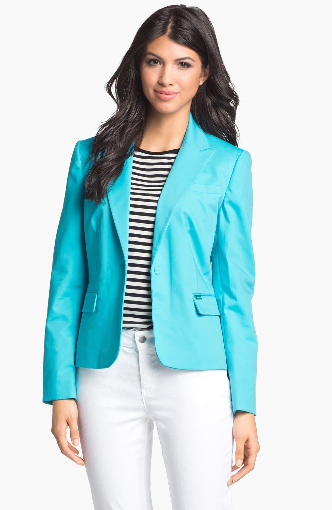 Alternate Image 1 Selected - Calvin Klein One Button Jacket