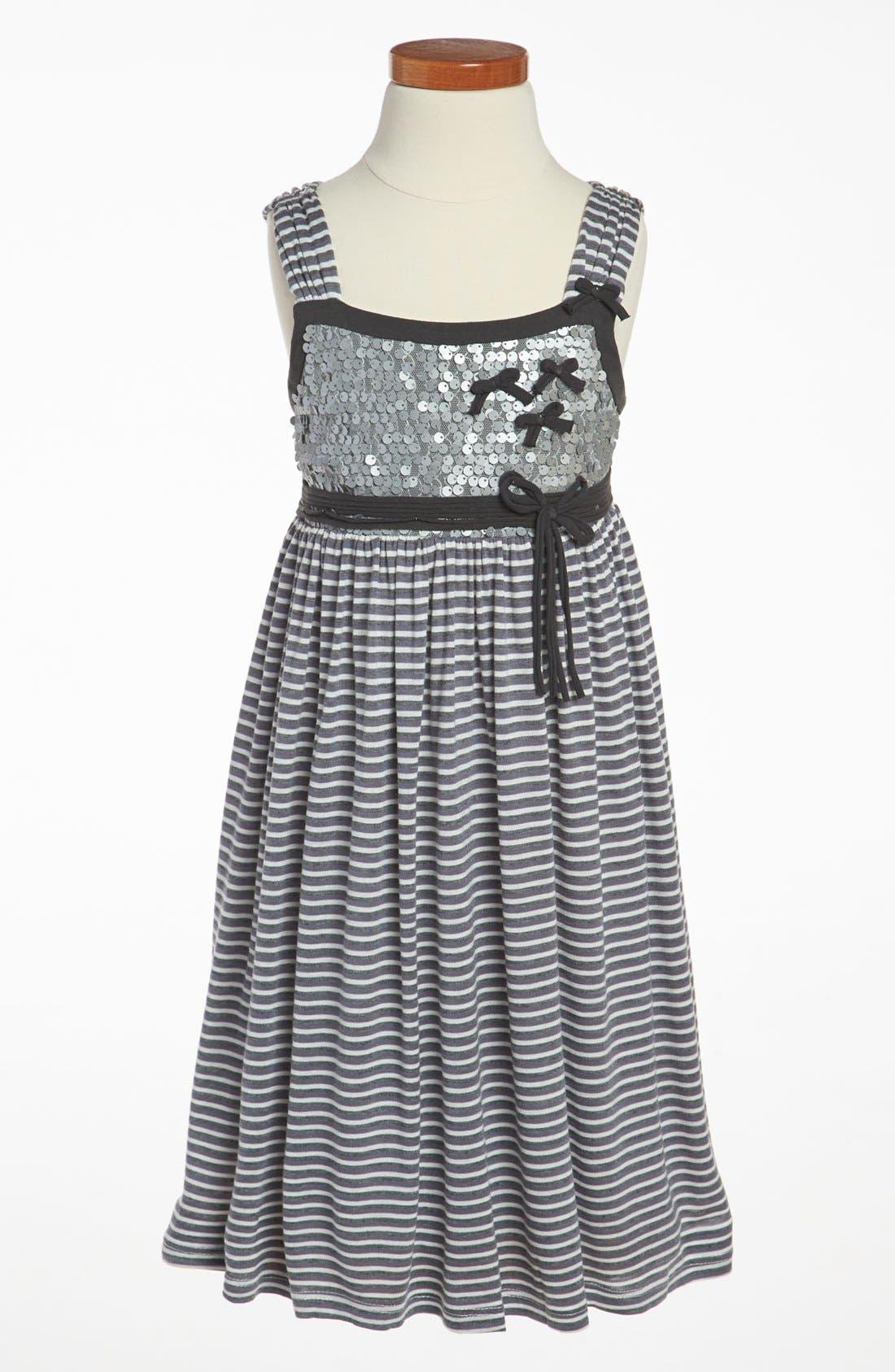 Alternate Image 1 Selected - Isobella & Chloe Stripe Dress (Little Girls & Big Girls)