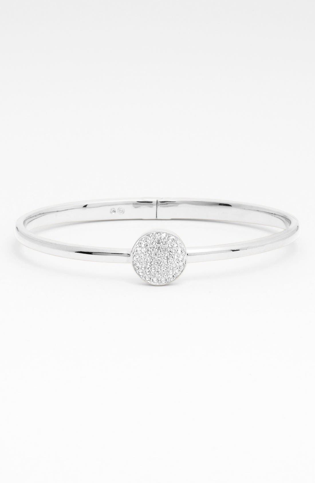 Main Image - Nadri 'Charmers' Pavé Station Hinged Bangle (Nordstrom Exclusive)