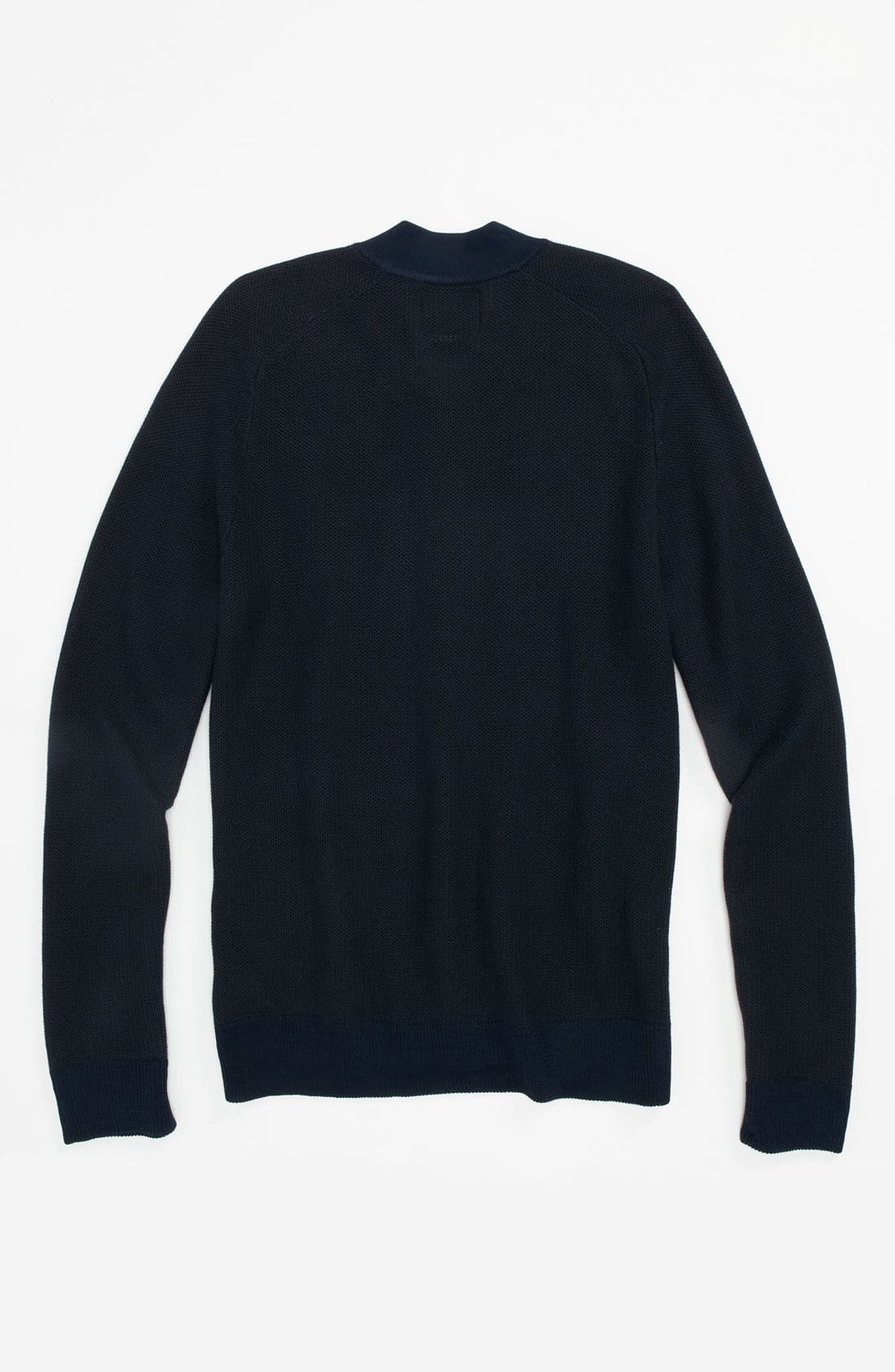 Alternate Image 2  - Topman 'Lux Collection' Viscose Rayon & Cotton Zip Sweater
