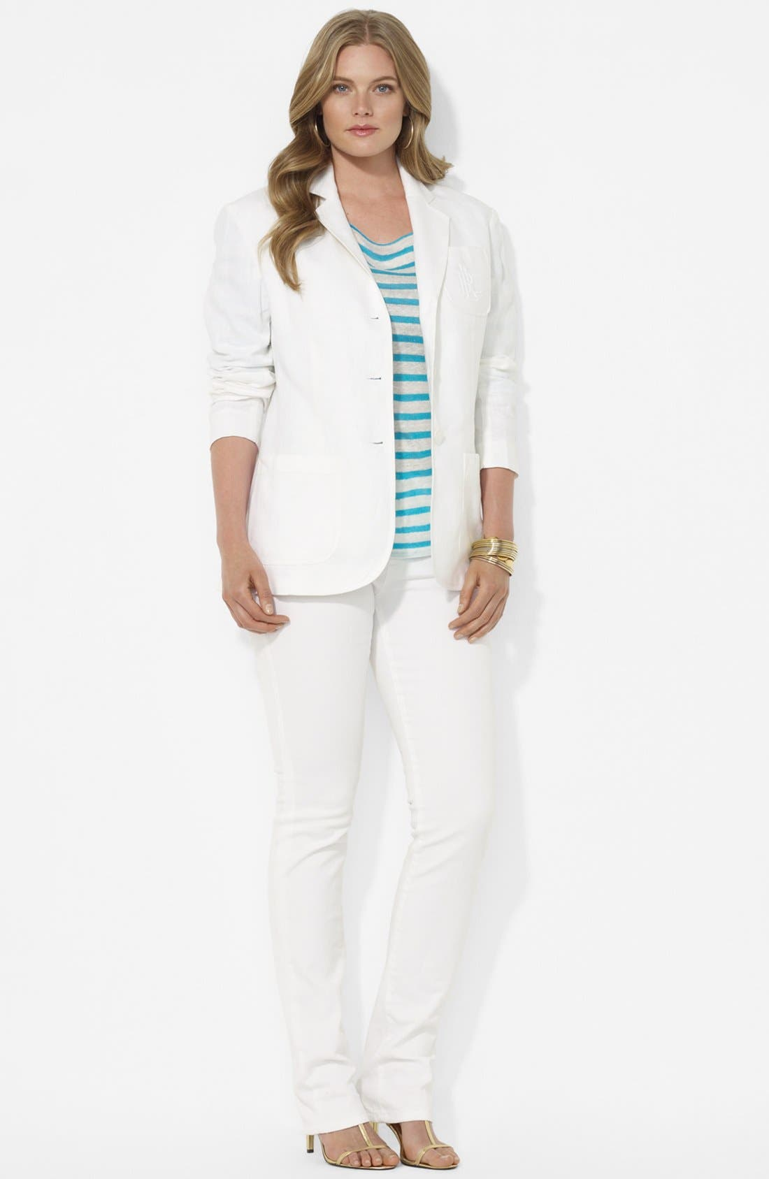 Alternate Image 3  - Lauren Ralph Lauren Boyfriend Jacket (Plus Size)