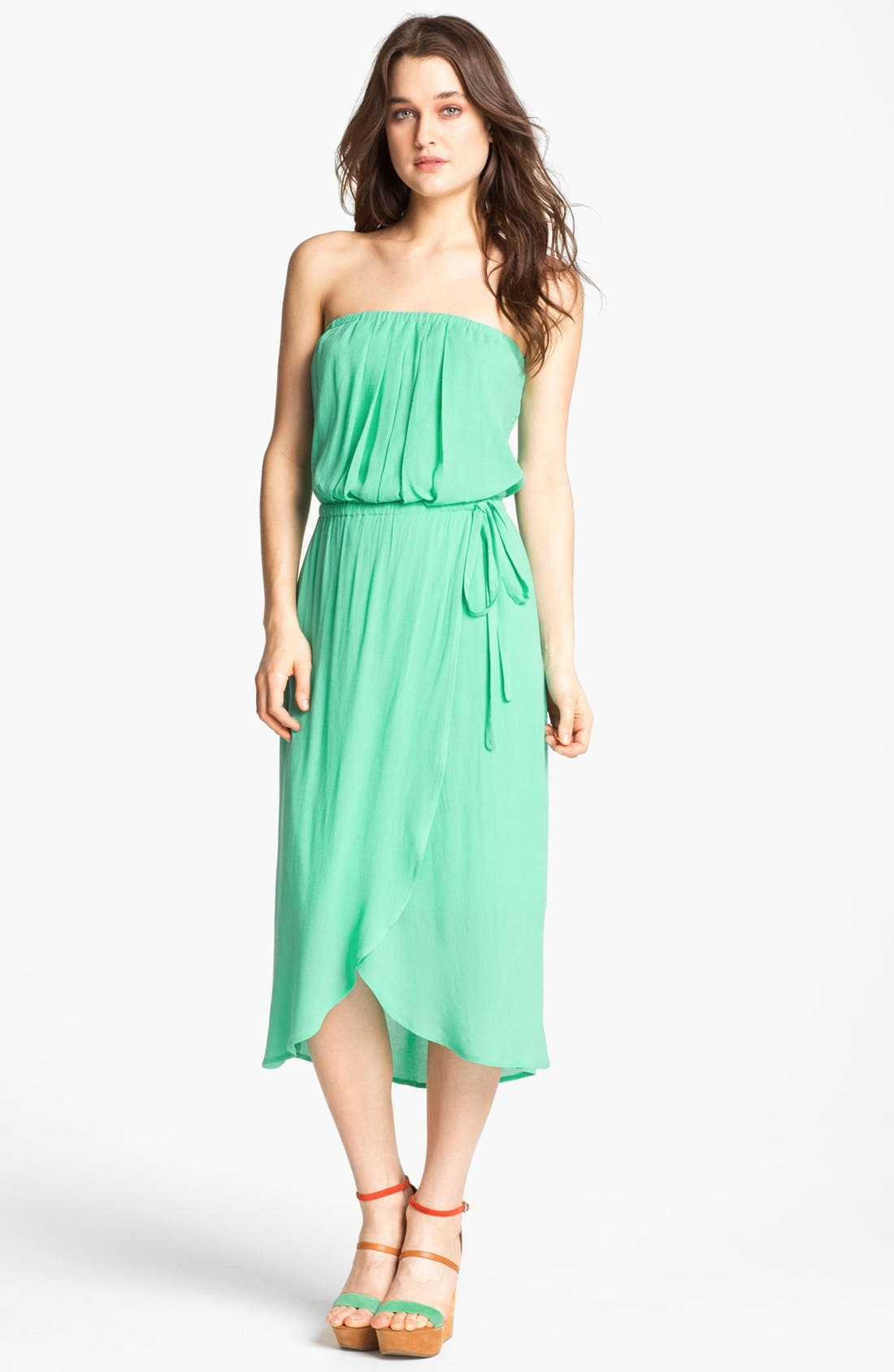 Alternate Image 1 Selected - Ella Moss Strapless Faux Wrap Dress