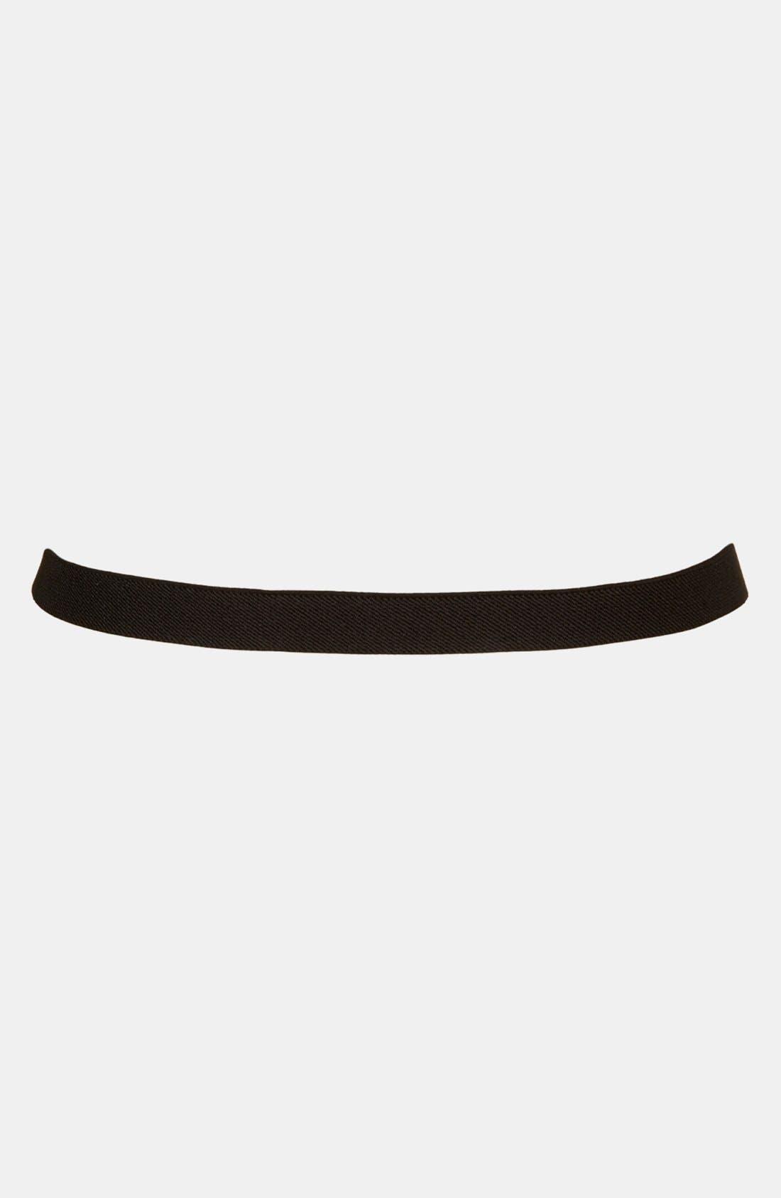 Alternate Image 2  - Topshop Stud Lock Stretch Belt