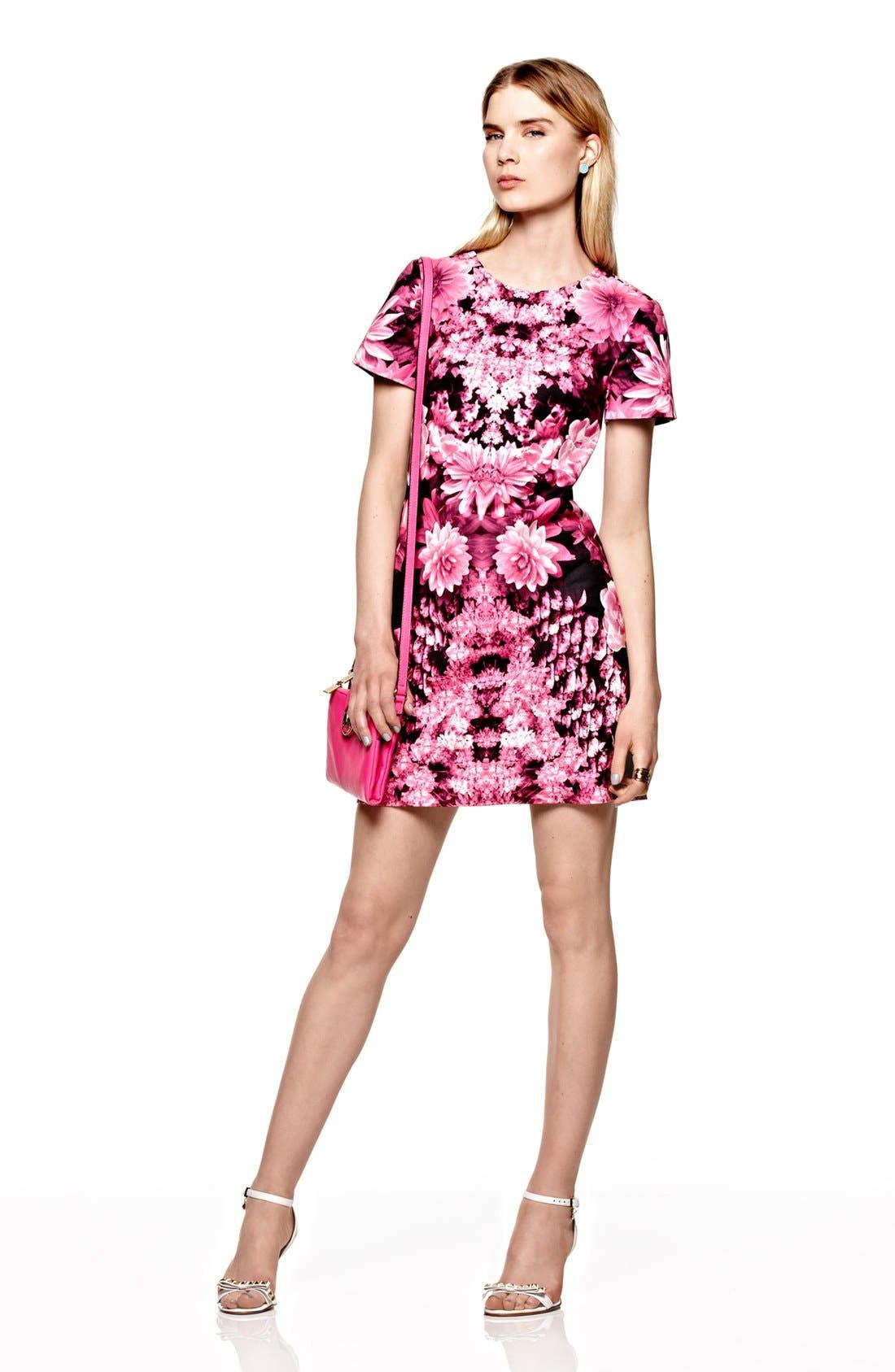 Alternate Image 1 Selected - MICHAEL Michael Kors Short Sleeve Print Dress