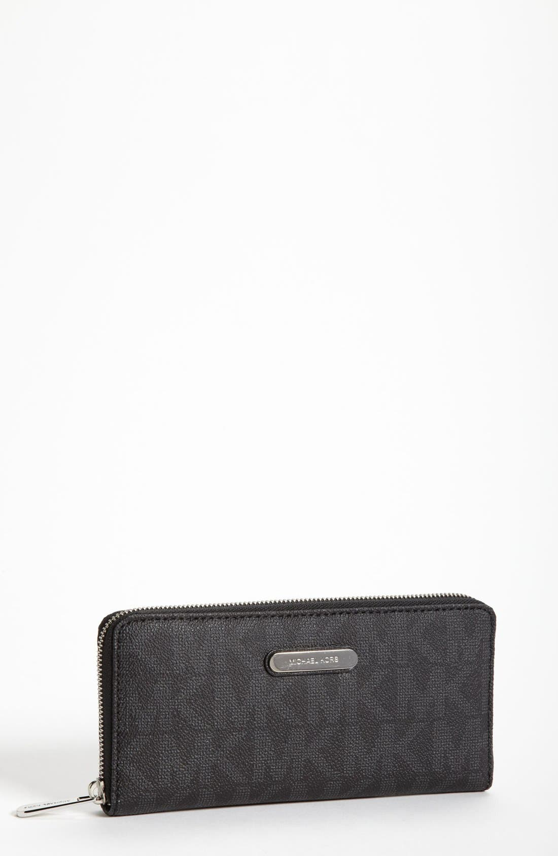 Alternate Image 1 Selected - MICHAEL Michael Kors 'Signature' Zip Around Wallet