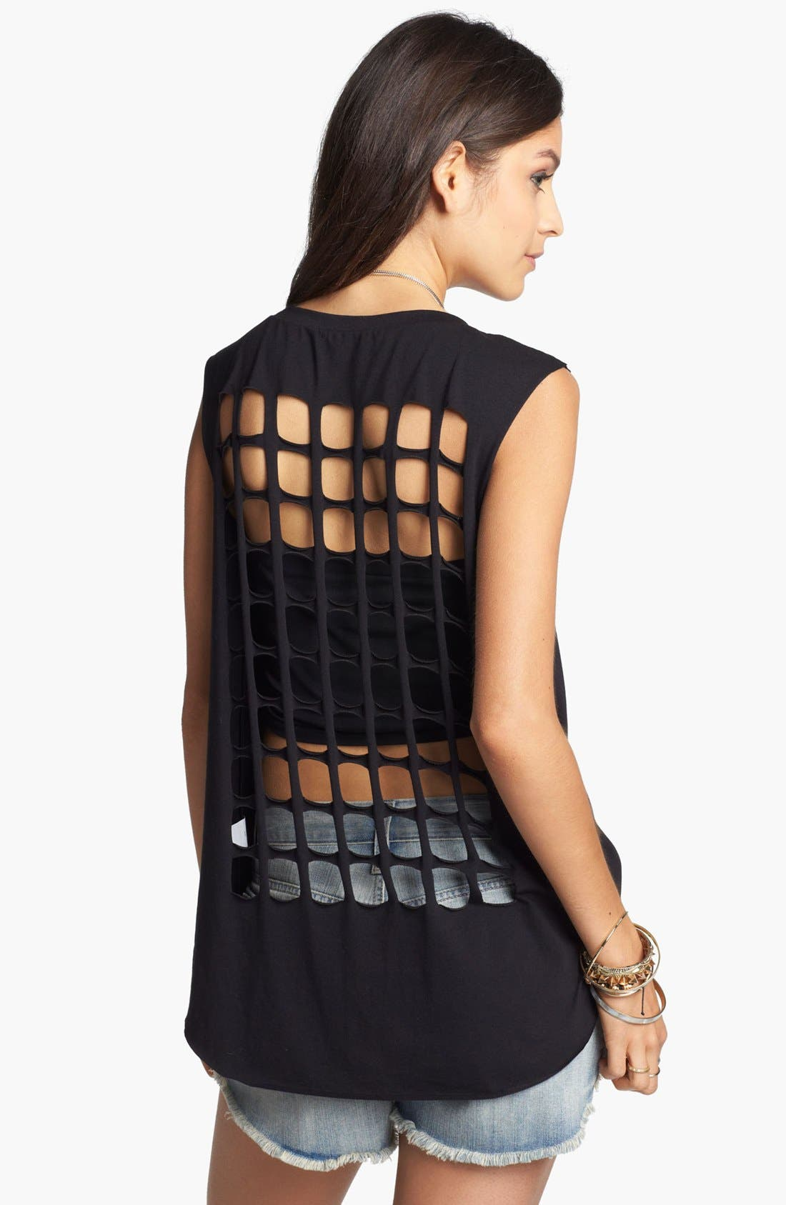 Main Image - Soprano Square Cutout Tank (Juniors)