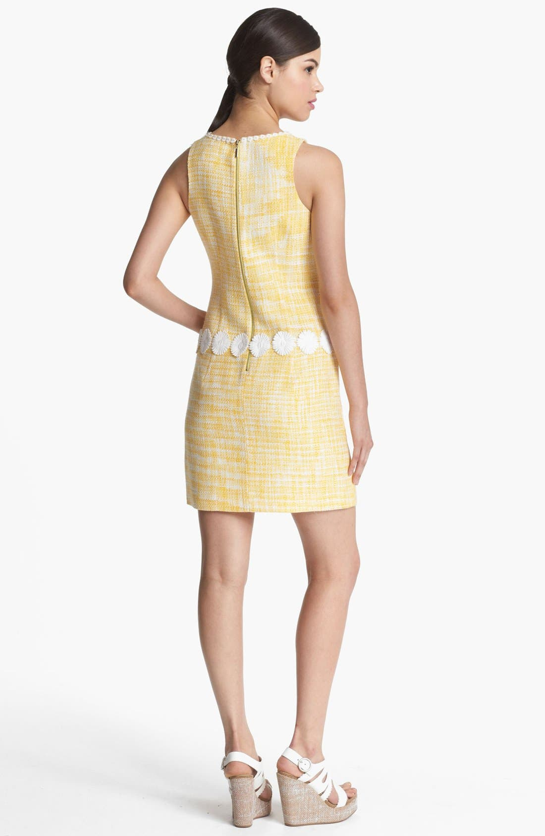 Alternate Image 2  - Laundry by Shelli Segal Daisy Trim Bouclé Dress