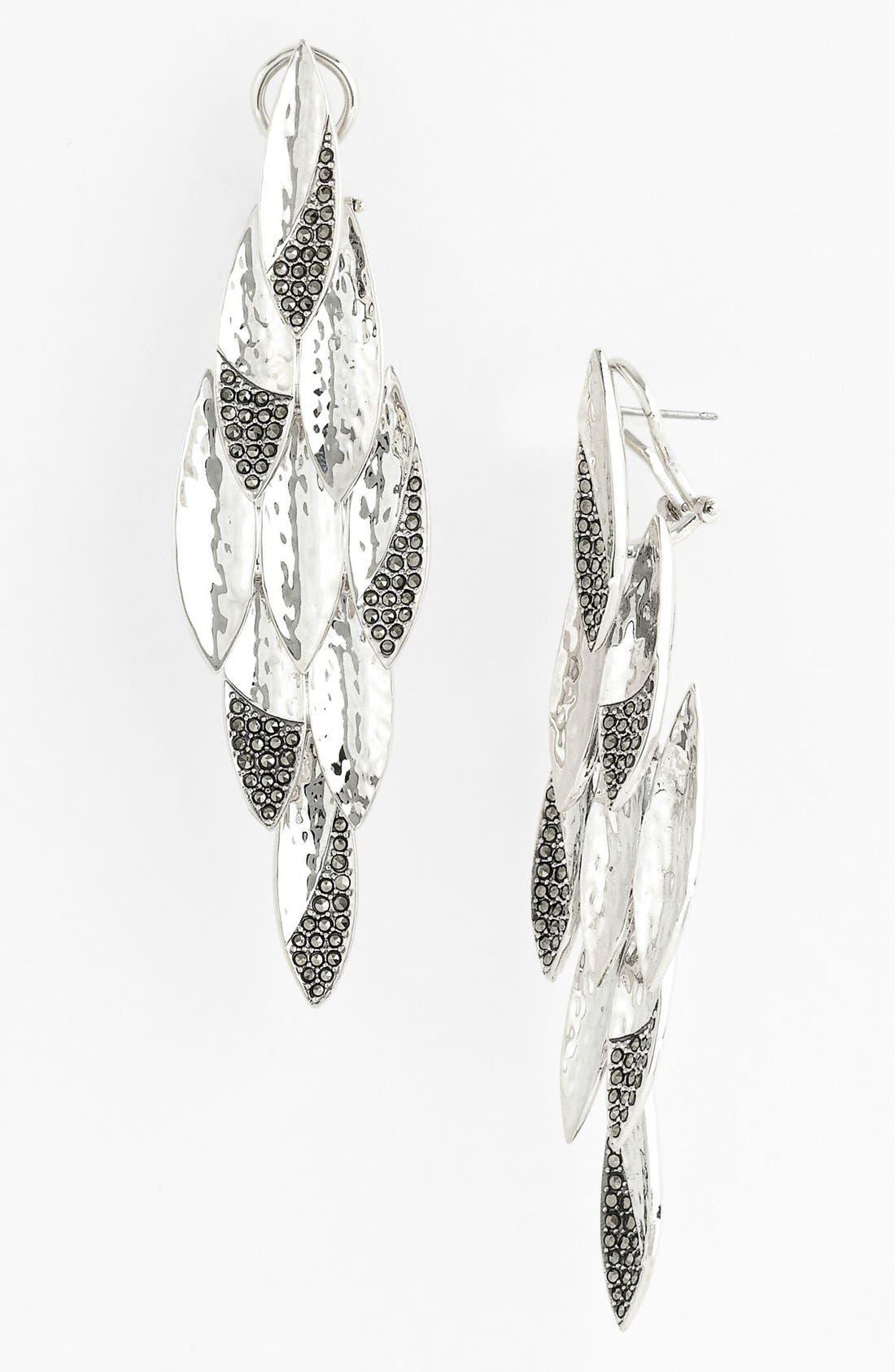 Main Image - Judith Jack 'Silver Rain' Large Chandelier Earrings (Nordstrom Exclusive)