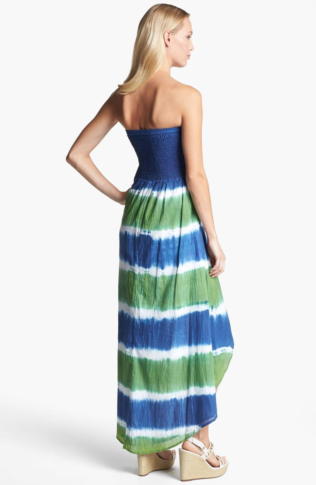 Alternate Image 2  - MICHAEL Michael Kors Strapless High/Low Maxi Dress