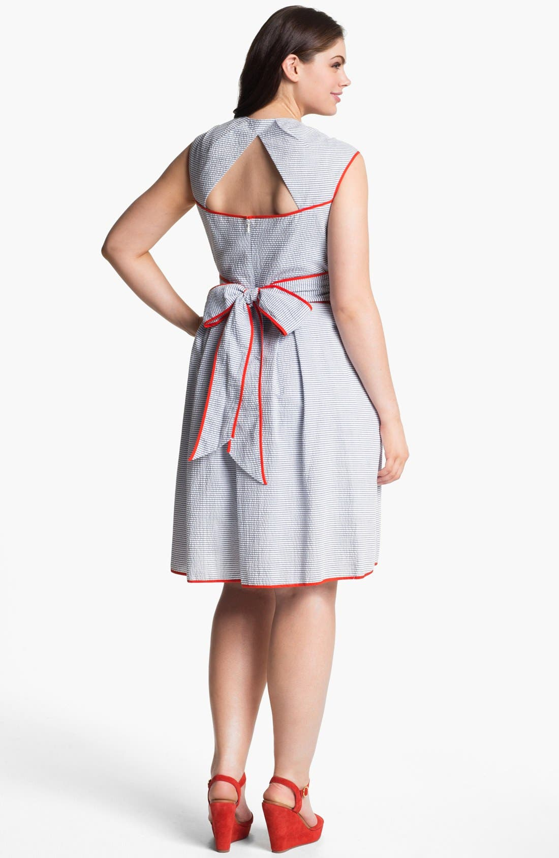 Alternate Image 2  - Jessica Simpson Cross Front Dress (Plus Size)
