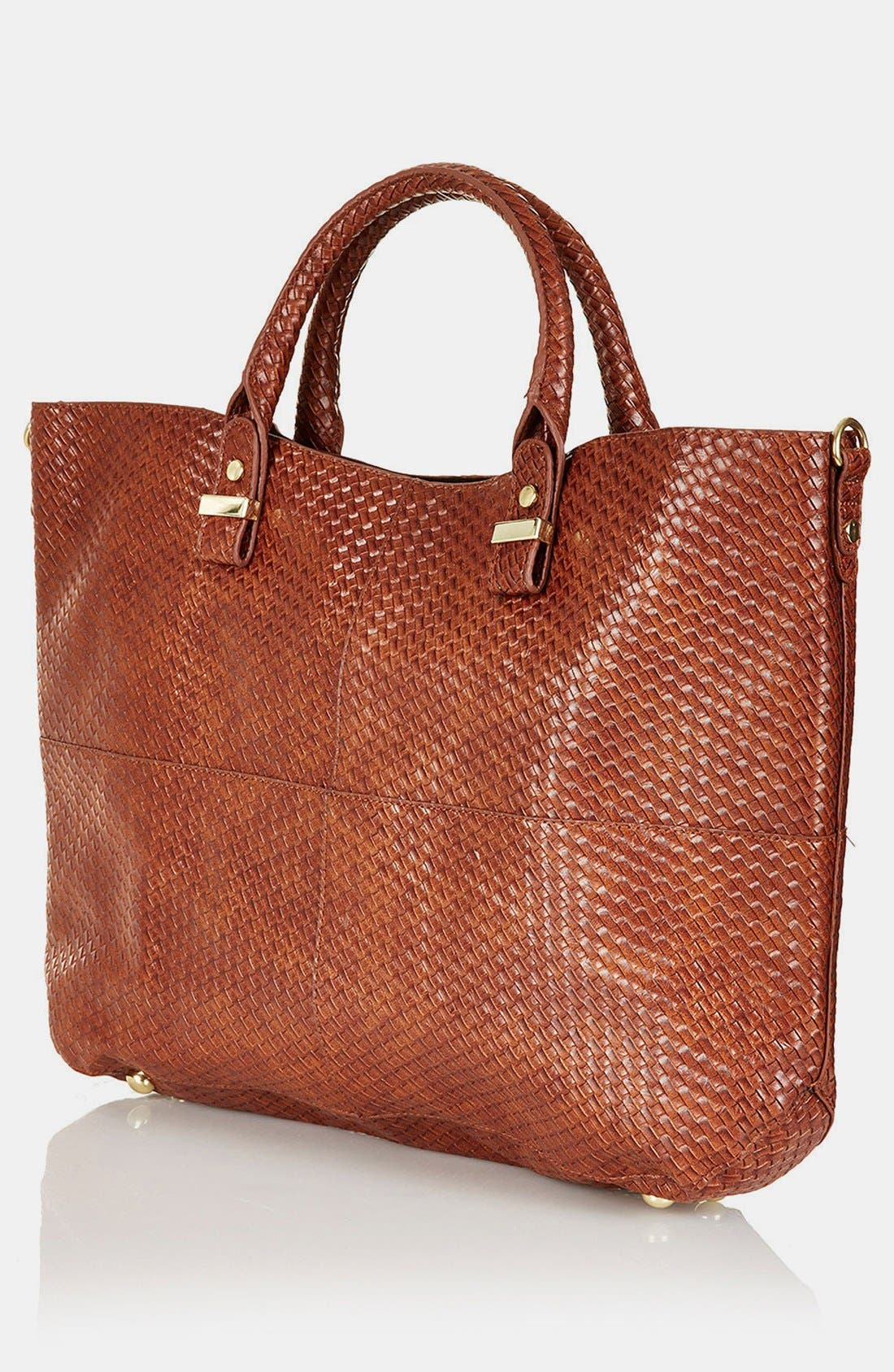 Alternate Image 2  - Topshop 'Woven Lady' Faux Leather Tote, Extra Large