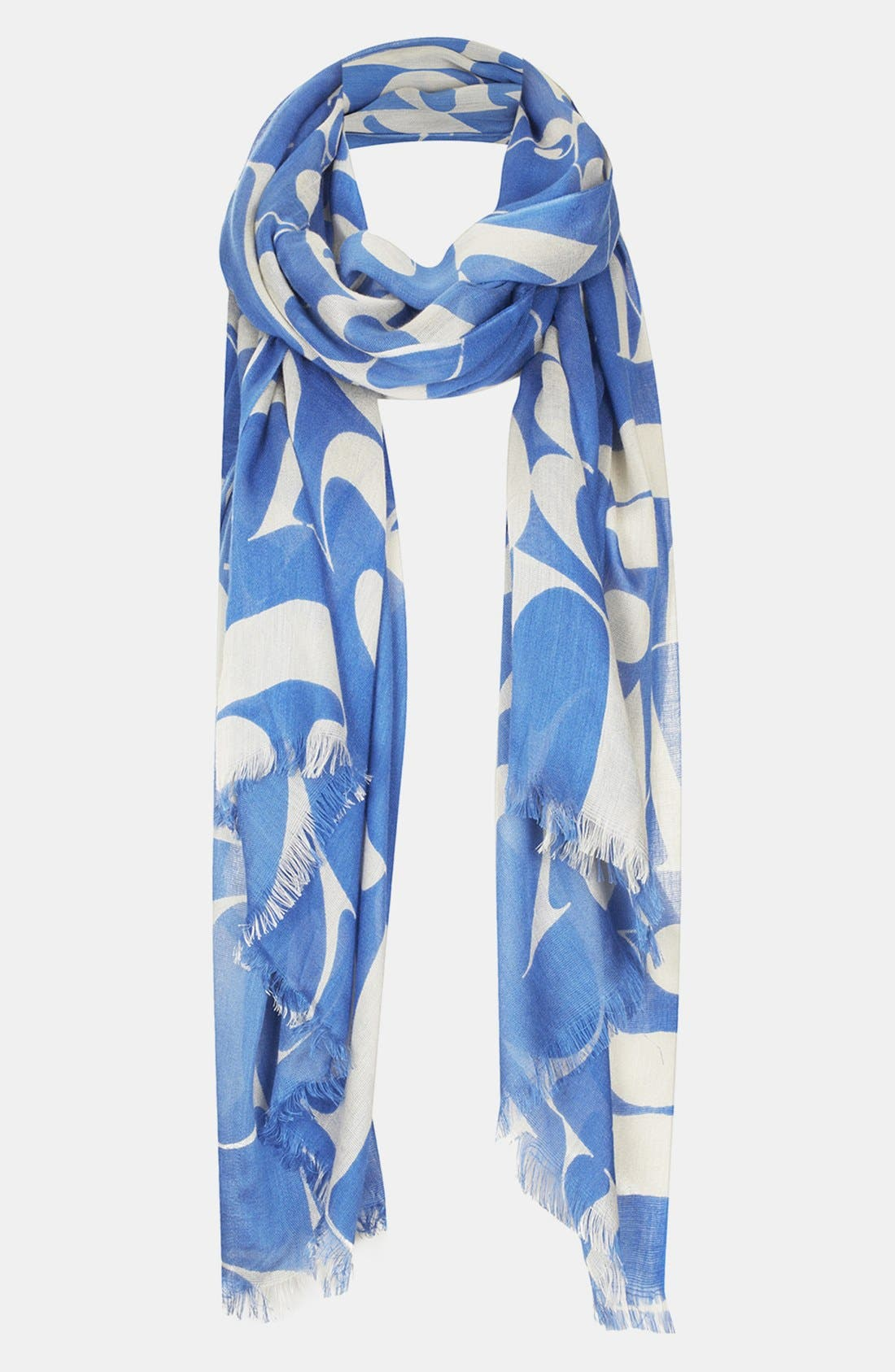 'Abstract Letter' Scarf,                             Main thumbnail 1, color,                             Blue