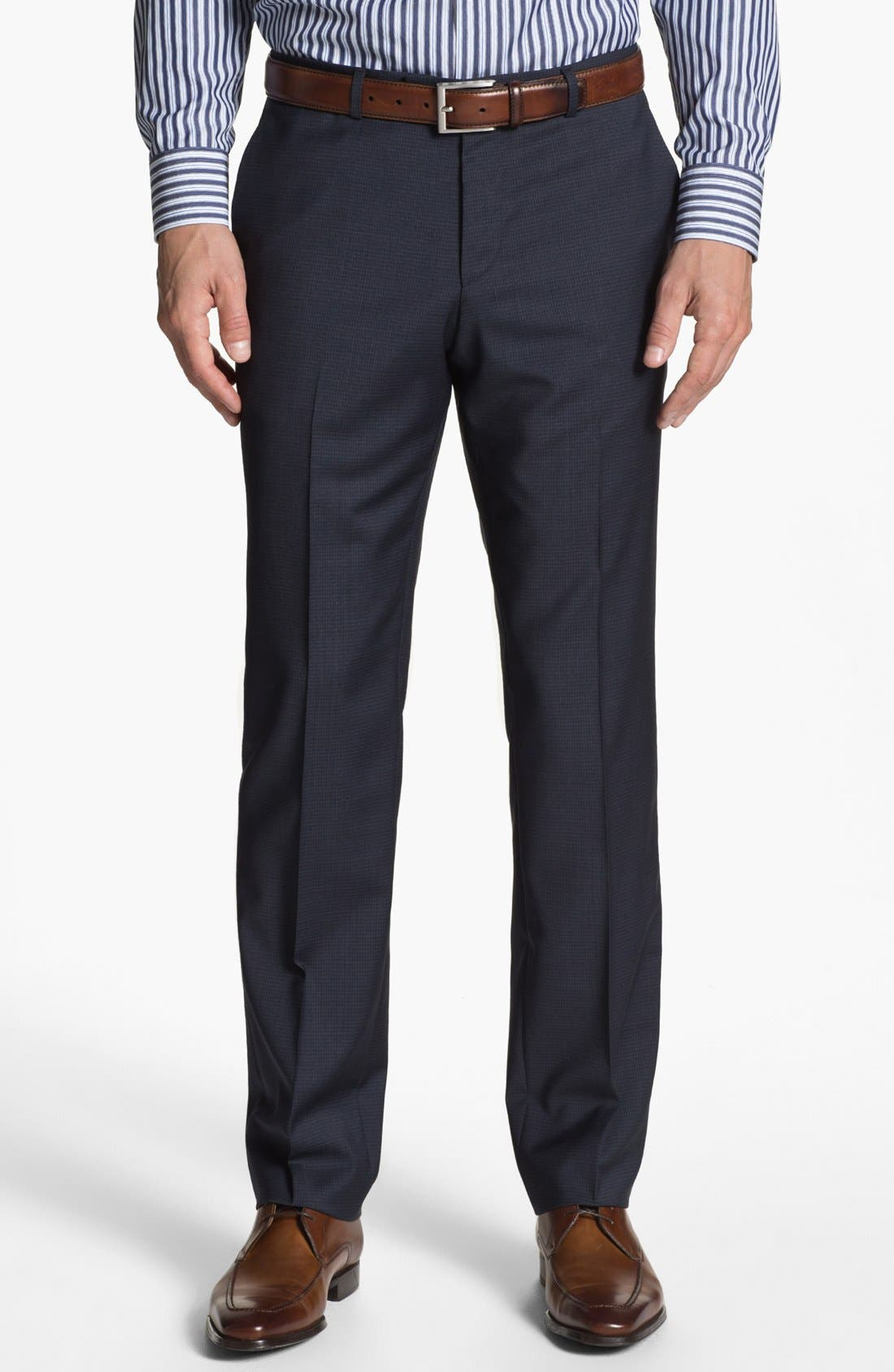 Alternate Image 5  - BOSS HUGO BOSS 'James/Sharp' Trim Fit Check Suit