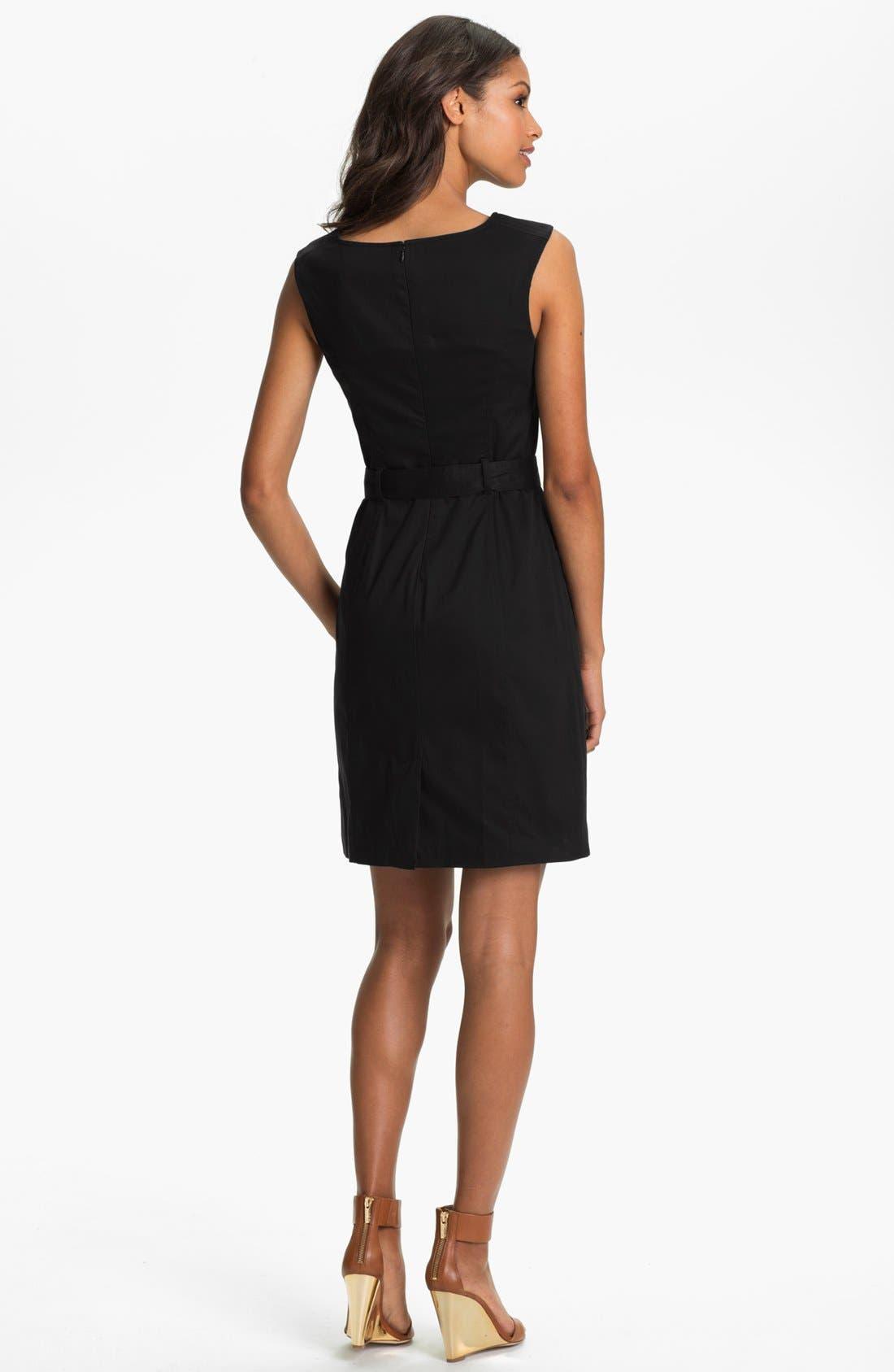 Alternate Image 2  - Ellen Tracy Belted Sheath Dress (Regular & Petite)