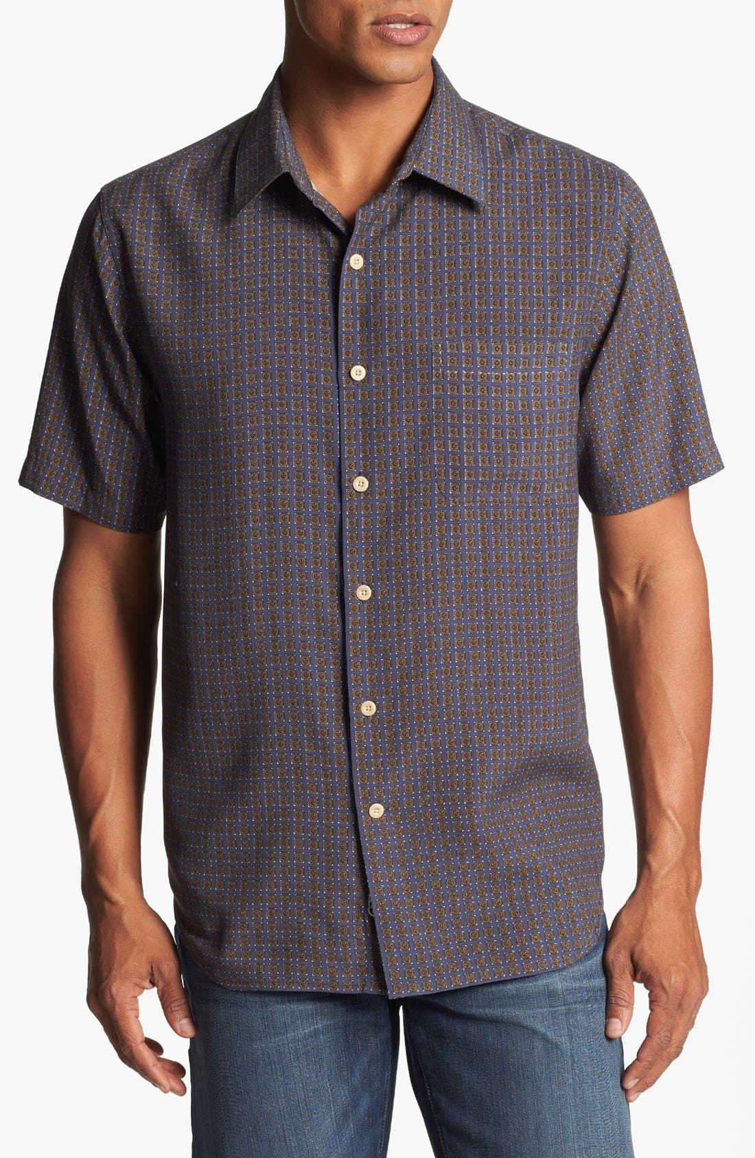 Alternate Image 1 Selected - Nat Nast American Fit Foulard Silk Sport Shirt