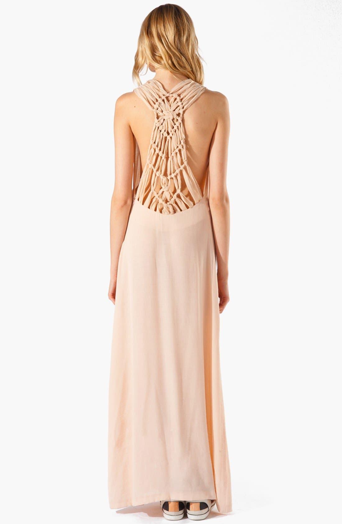 Alternate Image 2  - maje 'Armance' Macramé Maxi Dress