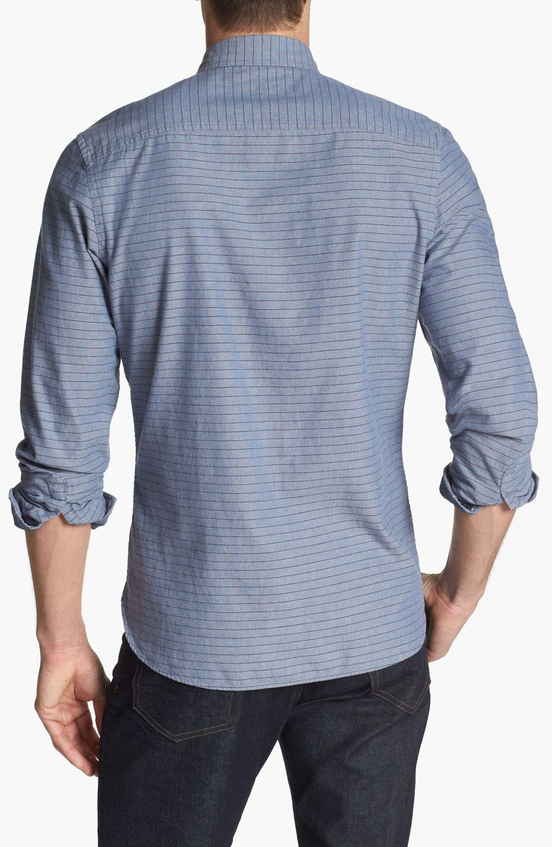 Alternate Image 2  - Wallin & Bros. Trim Fit Sport Shirt