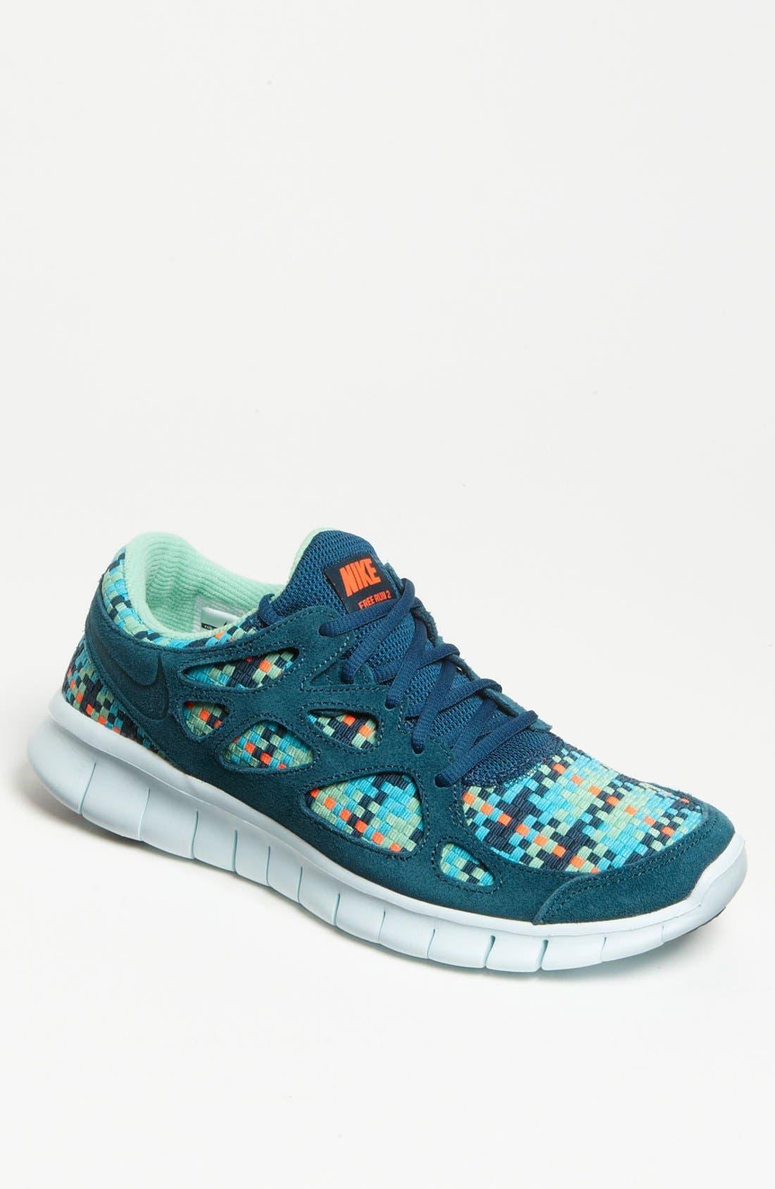 Nike Free Run 2 Sarcelle Literie Blanche
