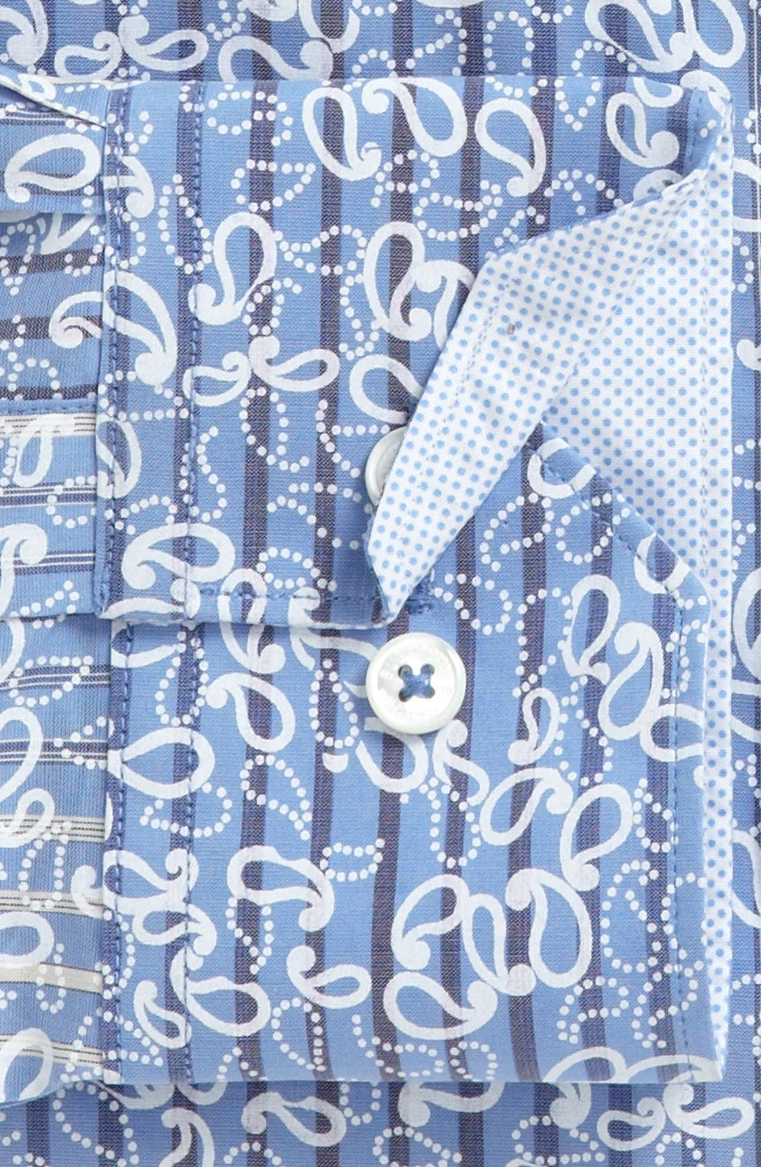 Alternate Image 5  - Bugatchi Striped Paisley Classic Fit Cotton Sport Shirt