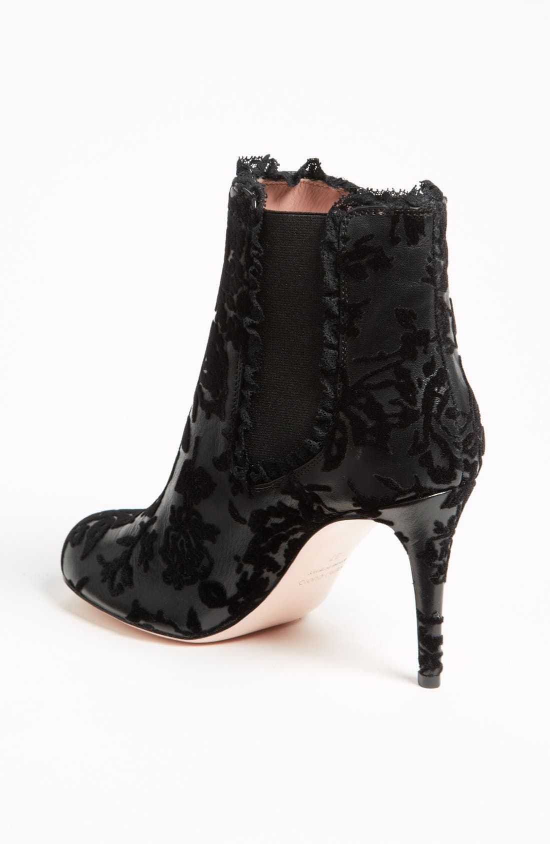Alternate Image 2  - RED Valentino Flocked Bootie