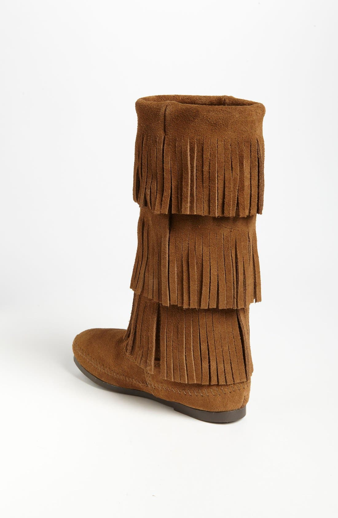 3-Layer Fringe Boot,                             Alternate thumbnail 2, color,                             Dusty Brown Suede