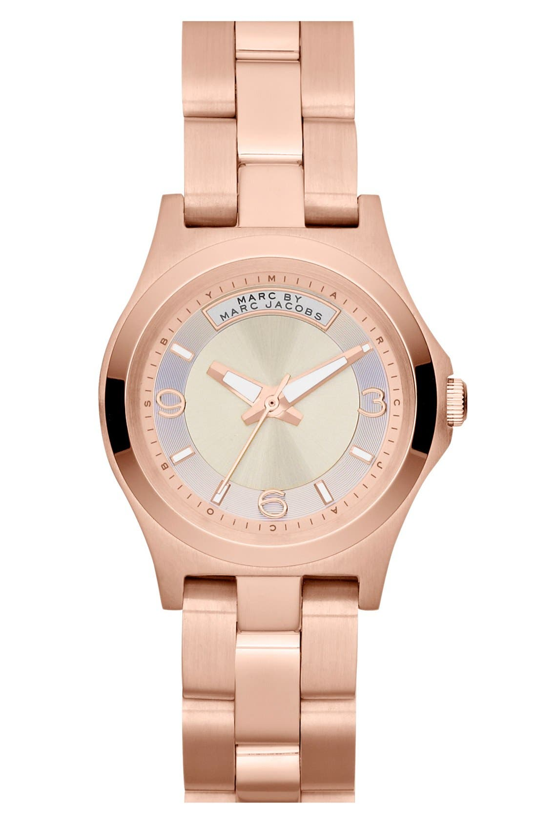 Alternate Image 1 Selected - MARC BY MARC JACOBS 'Mini Dave' Bracelet Watch, 28mm