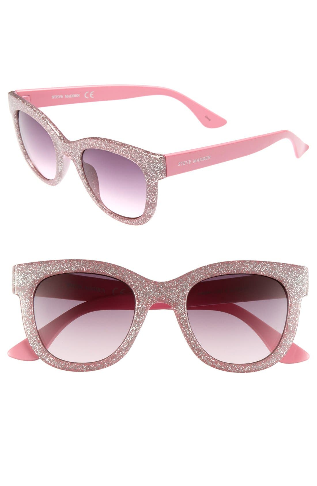 Alternate Image 1 Selected - Steve Madden Glitter Sunglasses