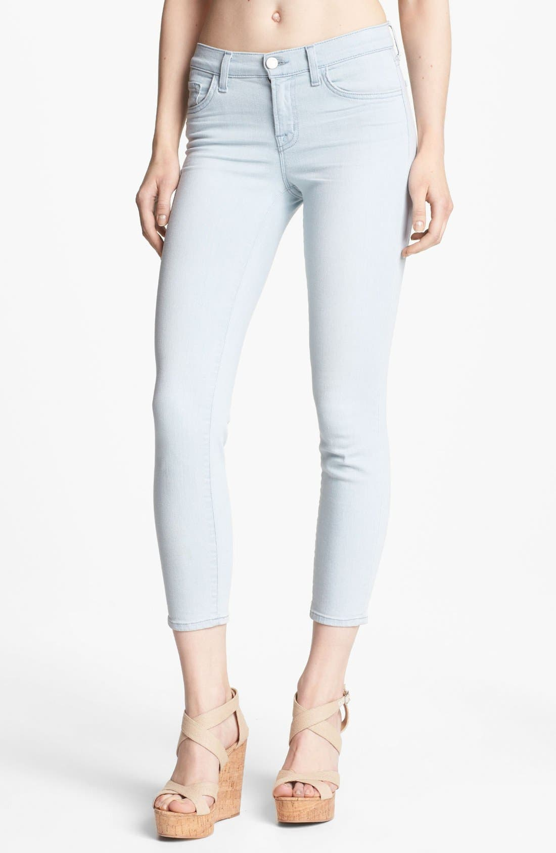 Alternate Image 1 Selected - J Brand Cropped Skinny Pants (Solana)