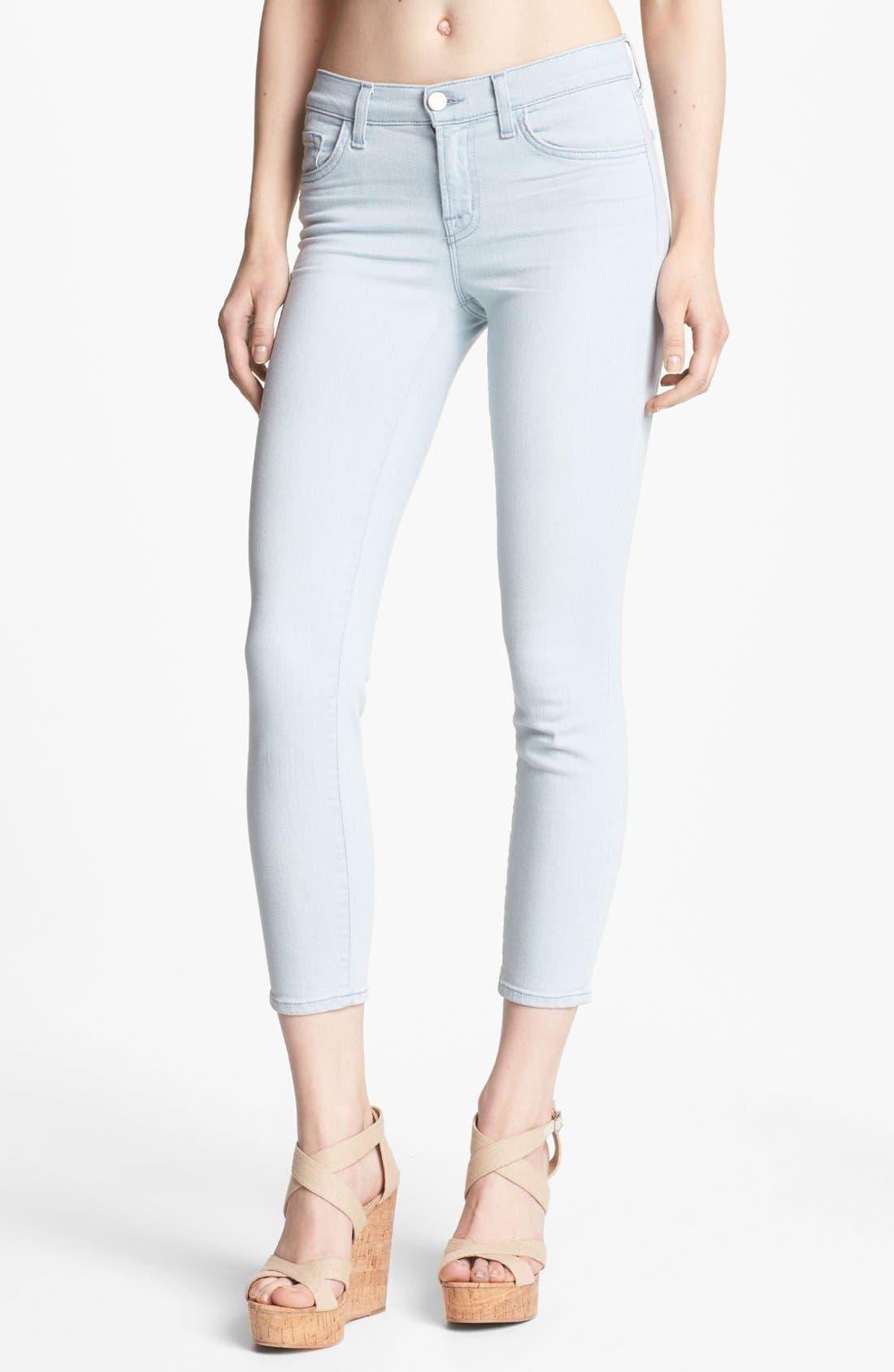 Alternate Image 1 Selected - J Brand Cropped Skinny Pants (Solana)