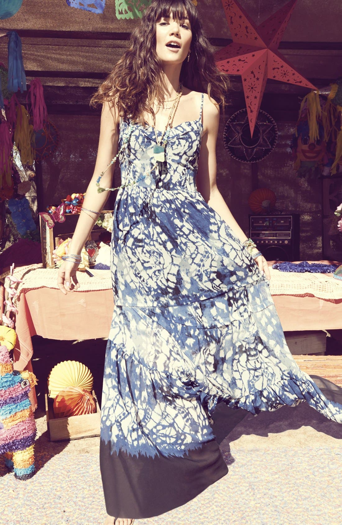 Alternate Image 1 Selected - Betsey Johnson Maxi Dress & Accessories