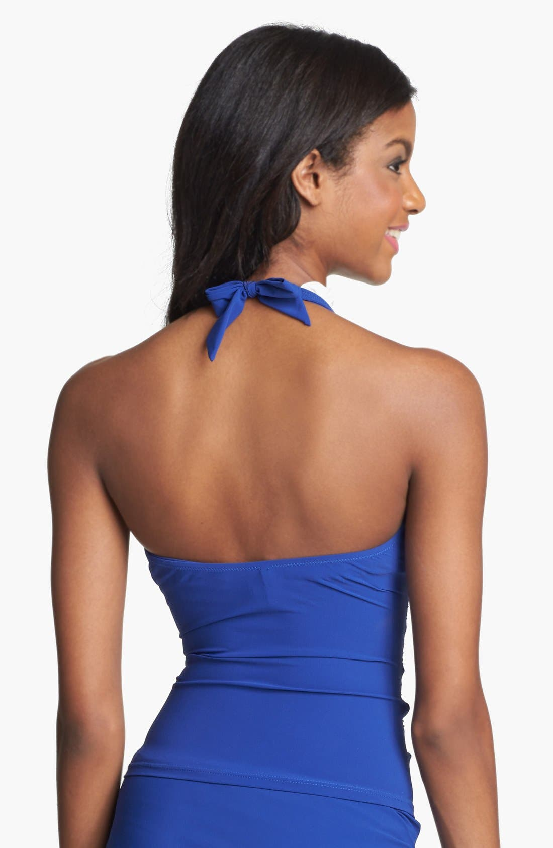 Alternate Image 2  - Profile by Gottex 'Black Tie' Halter Tankini Top (D-Cup)