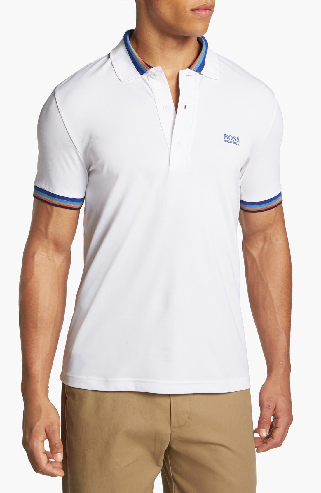 Main Image - BOSS Green 'Active Stretch' Piqué Golf Polo