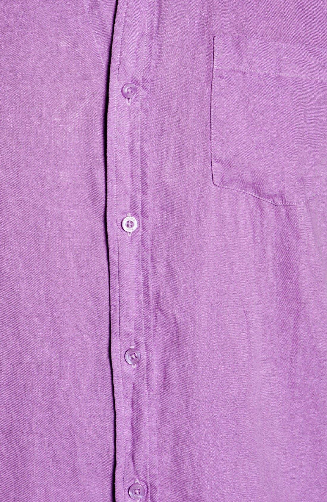 Alternate Image 3  - Toscano Regular Fit Linen Sport Shirt