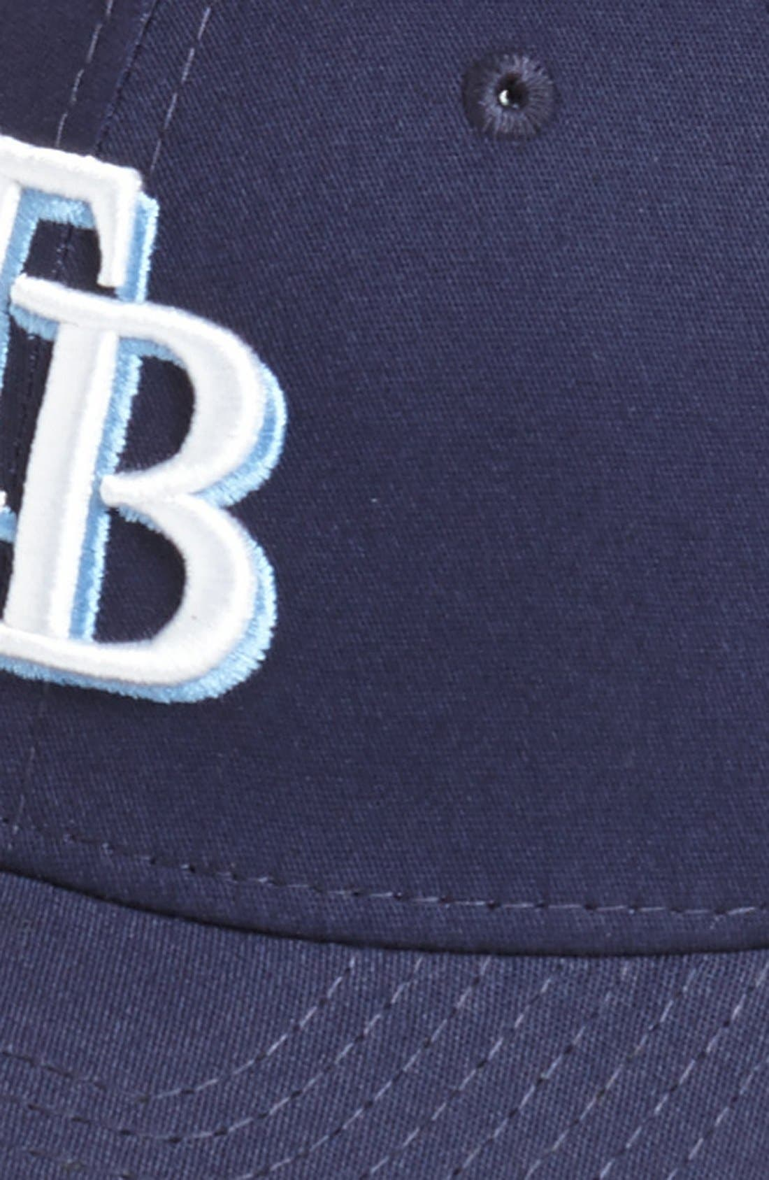 Alternate Image 2  - New Era Cap 'Tampa Bay Rays - Tie Breaker' Baseball Cap (Big Boys)