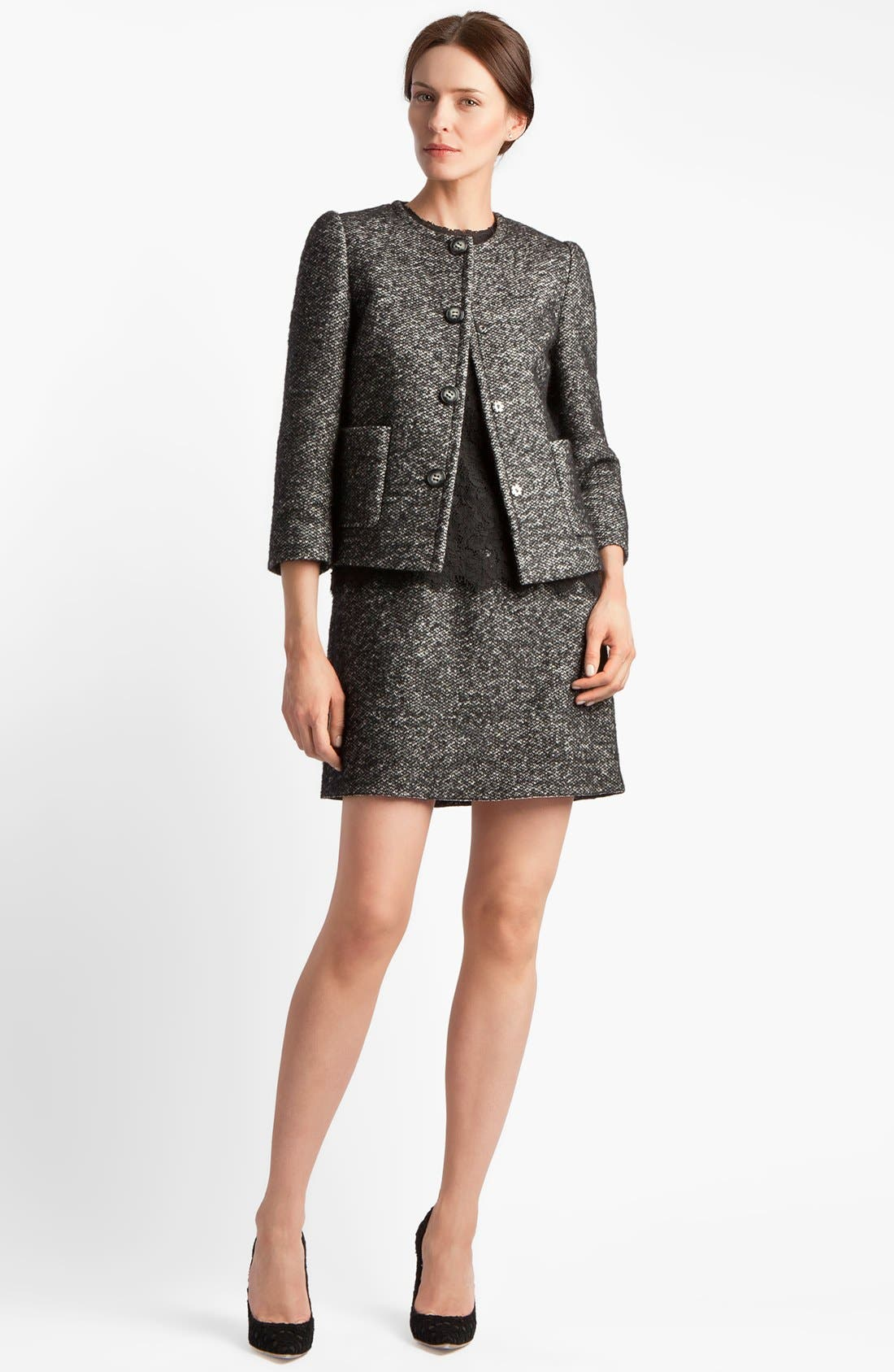 Alternate Image 3  - Dolce&Gabbana Lace & Tweed Dress